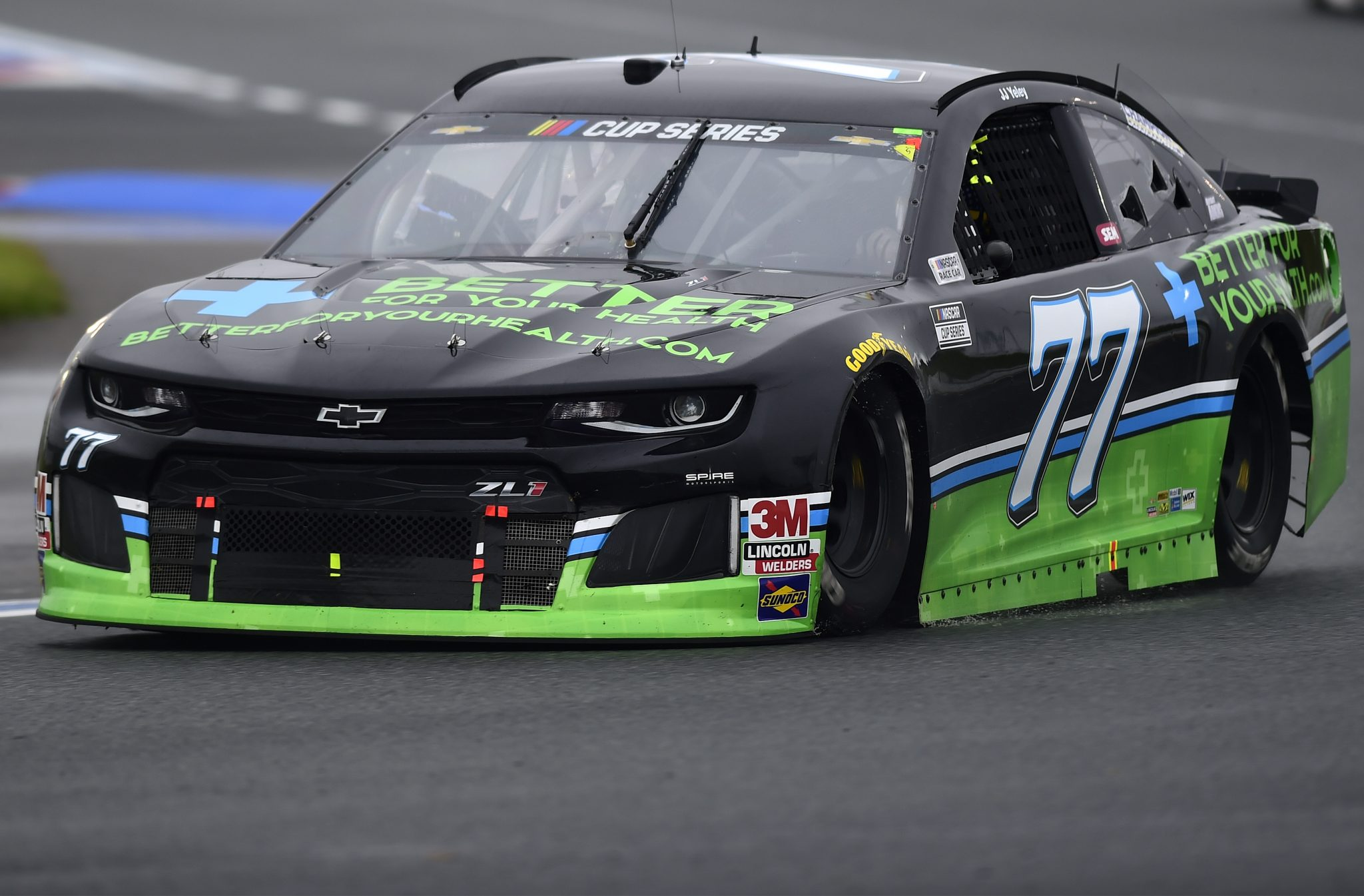 CONCORD, NORTH CAROLINA - OCTOBER 11: JJ Yeley, driver of the #77 BetterForYourHealth.com Chevrolet, drives during the NASCAR Cup Series Bank of America ROVAL 400 at Charlotte Motor Speedway on October 11, 2020 in Concord, North Carolina. (Photo by Jared C. Tilton/Getty Images) | Getty Images