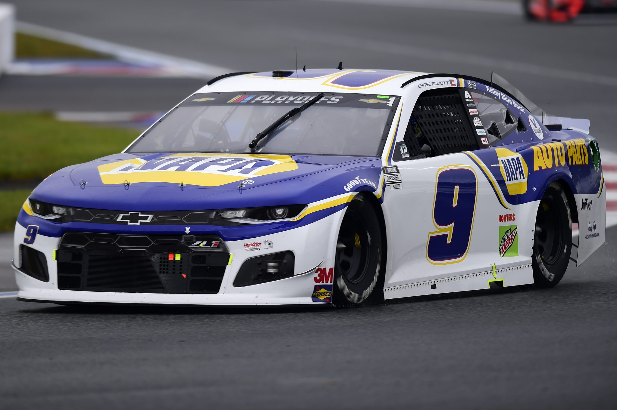 CONCORD, NORTH CAROLINA - OCTOBER 11: Chase Elliott, driver of the #9 NAPA Auto Parts Chevrolet, drives during the NASCAR Cup Series Bank of America ROVAL 400 at Charlotte Motor Speedway on October 11, 2020 in Concord, North Carolina. (Photo by Jared C. Tilton/Getty Images) | Getty Images