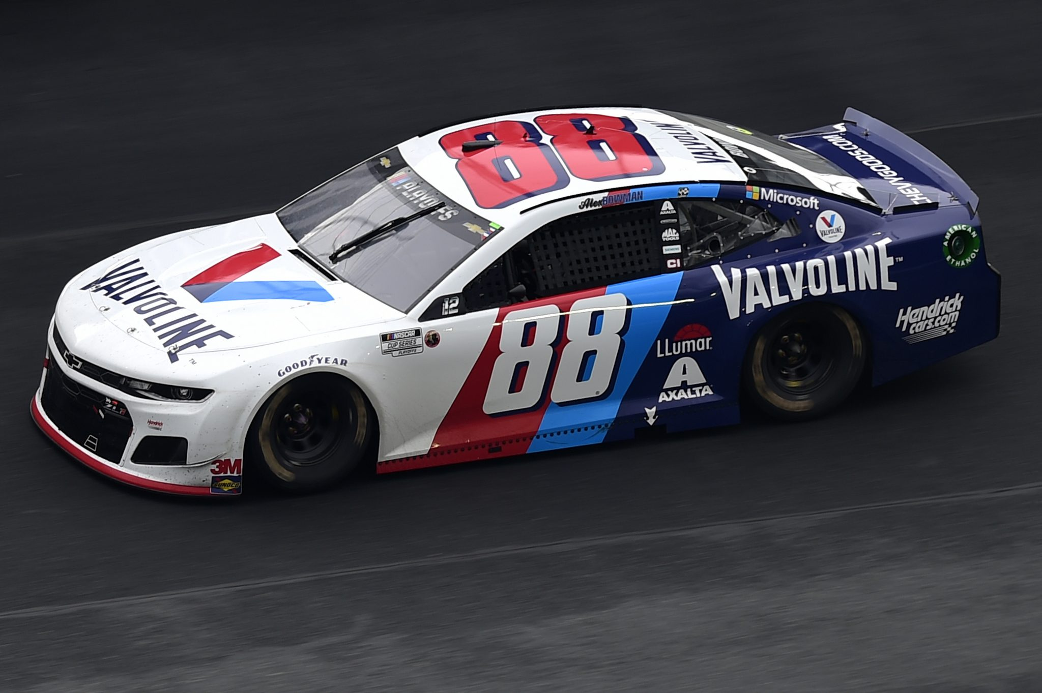 CONCORD, NORTH CAROLINA - OCTOBER 11: Alex Bowman, driver of the #88 Valvoline Chevrolet, drives during the NASCAR Cup Series Bank of America ROVAL 400 at Charlotte Motor Speedway on October 11, 2020 in Concord, North Carolina. (Photo by Jared C. Tilton/Getty Images) | Getty Images