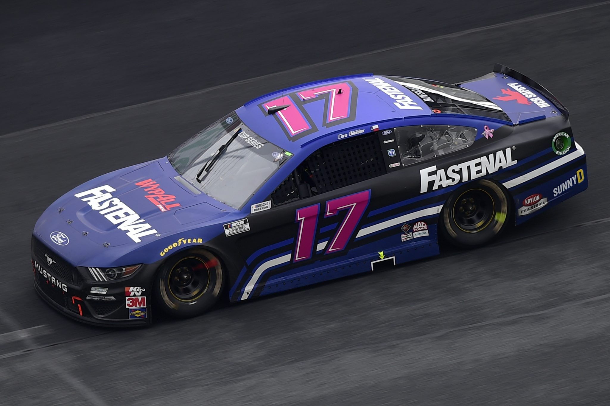 CONCORD, NORTH CAROLINA - OCTOBER 11: Chris Buescher, driver of the #17 Fastenal Ford, drives during the NASCAR Cup Series Bank of America ROVAL 400 at Charlotte Motor Speedway on October 11, 2020 in Concord, North Carolina. (Photo by Jared C. Tilton/Getty Images) | Getty Images