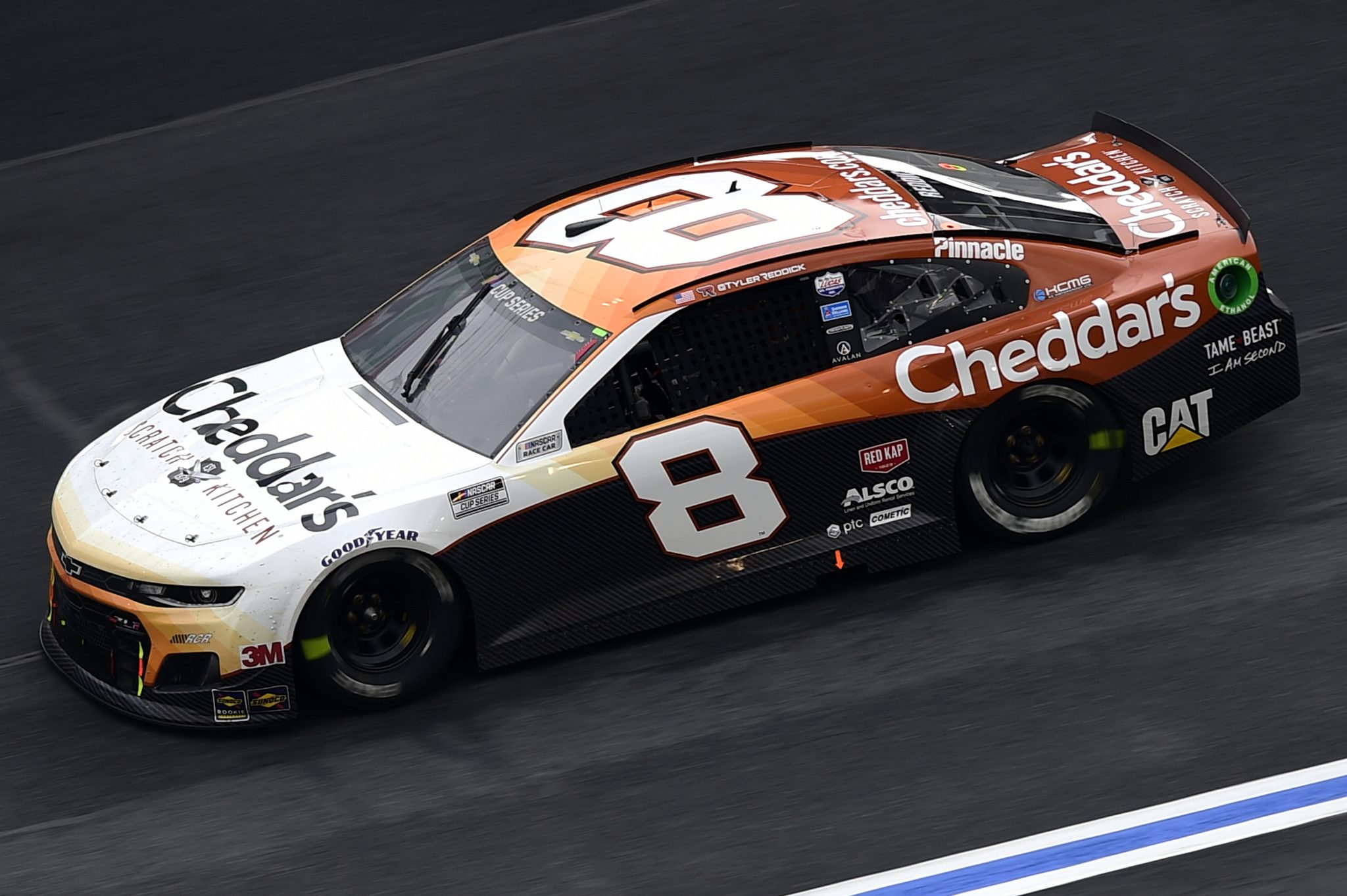 CONCORD, NORTH CAROLINA - OCTOBER 11: Tyler Reddick, driver of the #8 Cheddar's Chevrolet, drives during the NASCAR Cup Series Bank of America ROVAL 400 at Charlotte Motor Speedway on October 11, 2020 in Concord, North Carolina. (Photo by Jared C. Tilton/Getty Images) | Getty Images