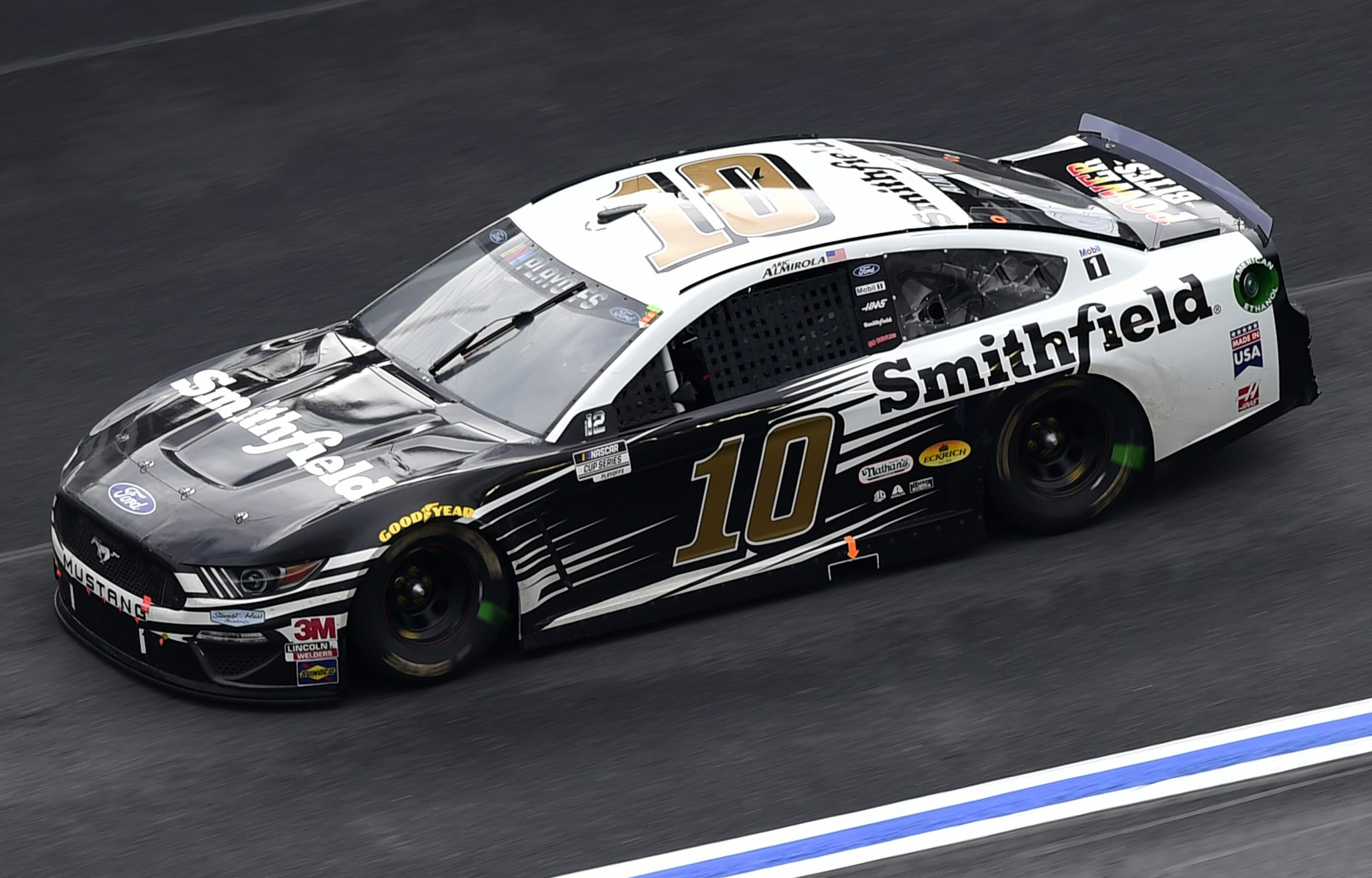 CONCORD, NORTH CAROLINA - OCTOBER 11: Aric Almirola, driver of the #10 Smithfield Ford, drives during the NASCAR Cup Series Bank of America ROVAL 400 at Charlotte Motor Speedway on October 11, 2020 in Concord, North Carolina. (Photo by Jared C. Tilton/Getty Images) | Getty Images