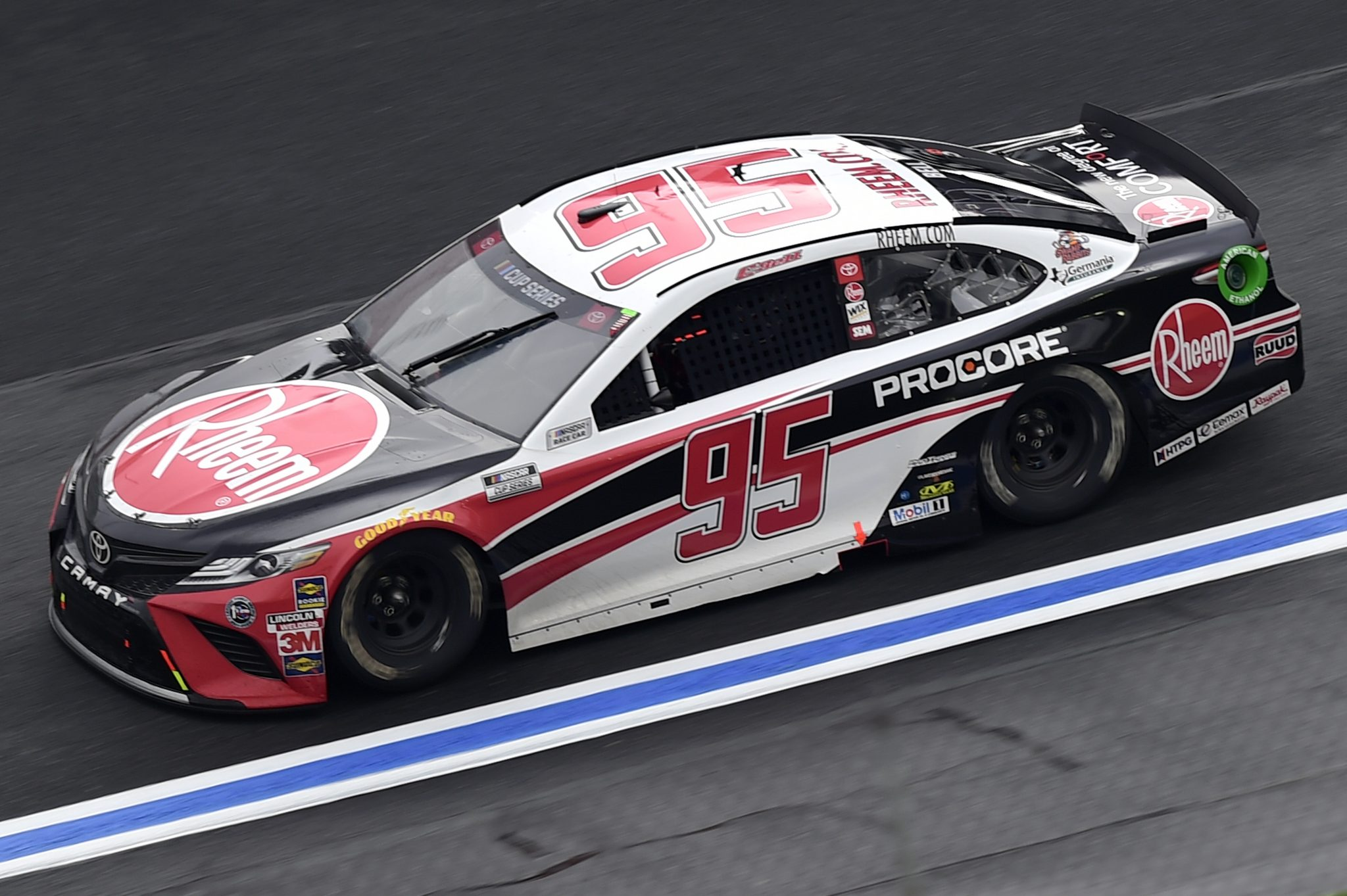CONCORD, NORTH CAROLINA - OCTOBER 11: Christopher Bell, driver of the #95 Rheem Toyota, drives during the NASCAR Cup Series Bank of America ROVAL 400 at Charlotte Motor Speedway on October 11, 2020 in Concord, North Carolina. (Photo by Jared C. Tilton/Getty Images) | Getty Images