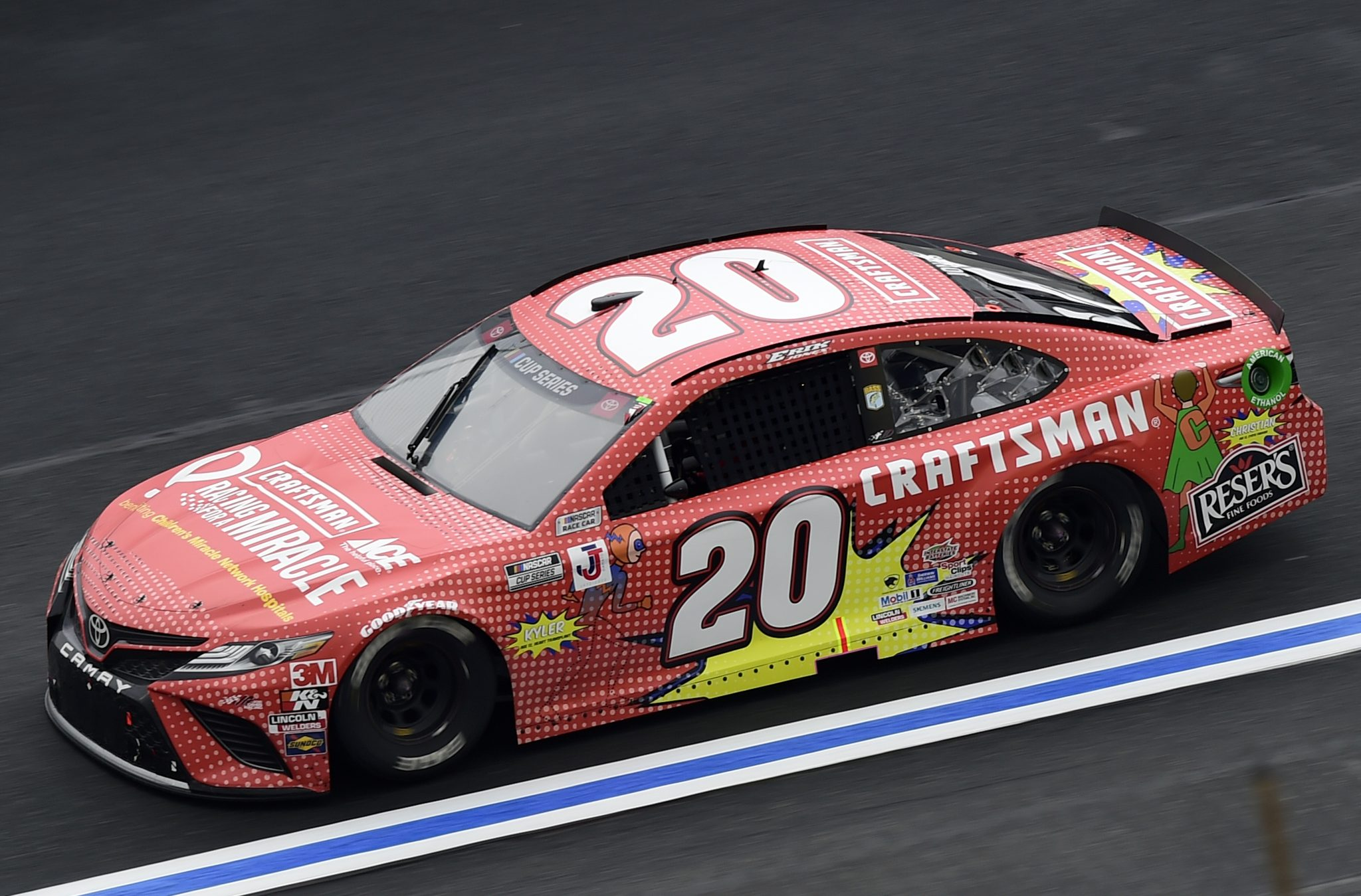 CONCORD, NORTH CAROLINA - OCTOBER 11: Erik Jones, driver of the #20 Craftsman ACE/CMN Toyota, drives during the NASCAR Cup Series Bank of America ROVAL 400 at Charlotte Motor Speedway on October 11, 2020 in Concord, North Carolina. (Photo by Jared C. Tilton/Getty Images) | Getty Images
