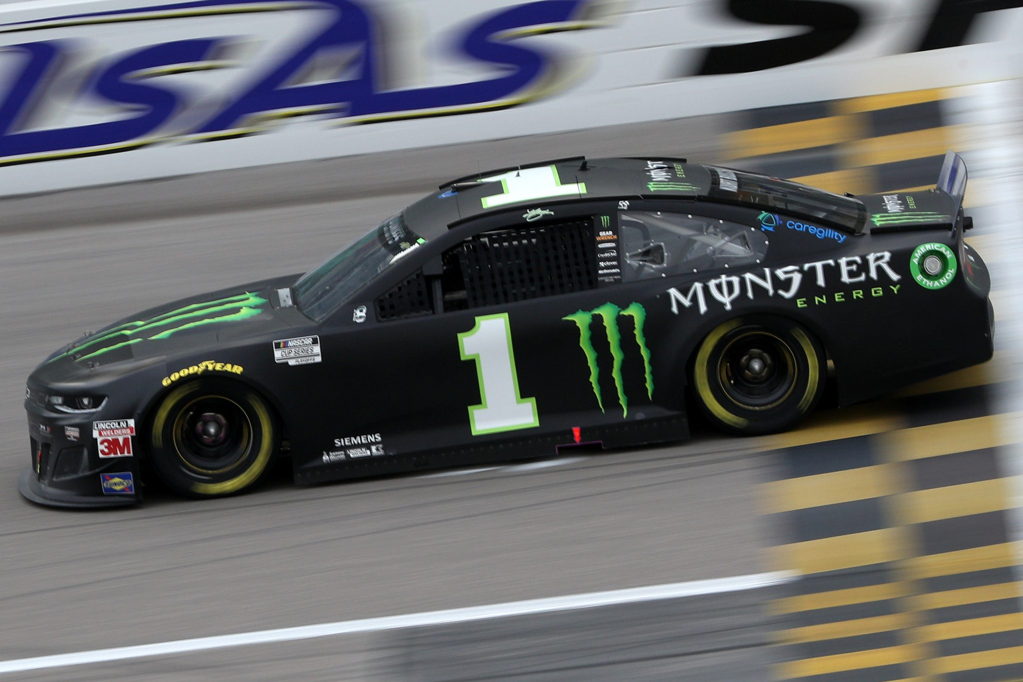 KANSAS CITY, KANSAS - OCTOBER 18: Kurt Busch, driver of the #1 Monster Energy Chevrolet, drives during the NASCAR Cup Series Hollywood Casino 400 at Kansas Speedway on October 18, 2020 in Kansas City, Kansas. (Photo by Chris Graythen/Getty Images) | Getty Images