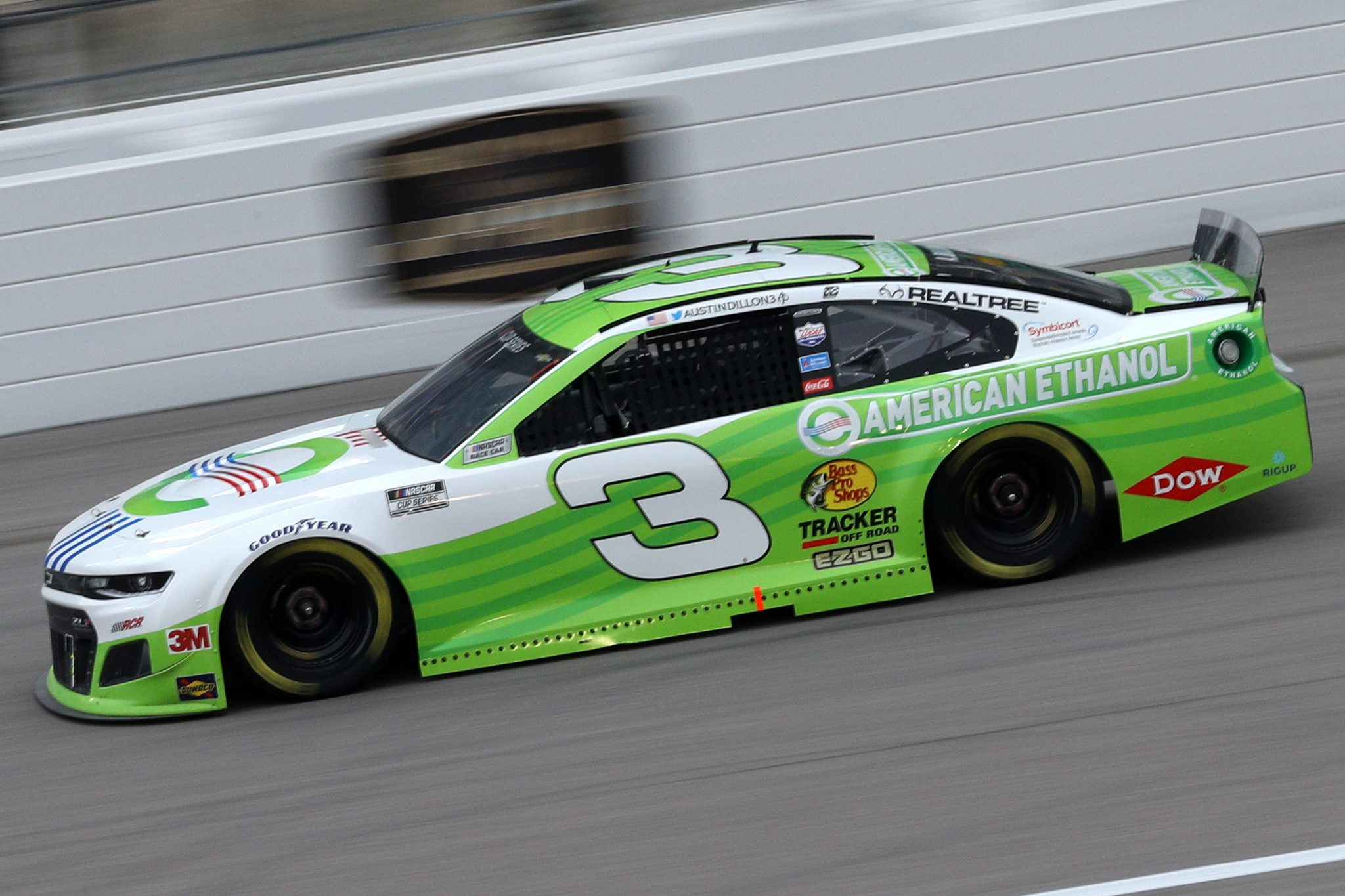 KANSAS CITY, KANSAS - OCTOBER 18: Austin Dillon, driver of the #3 American Ethanol Chevrolet, drives during the NASCAR Cup Series Hollywood Casino 400 at Kansas Speedway on October 18, 2020 in Kansas City, Kansas. (Photo by Chris Graythen/Getty Images) | Getty Images