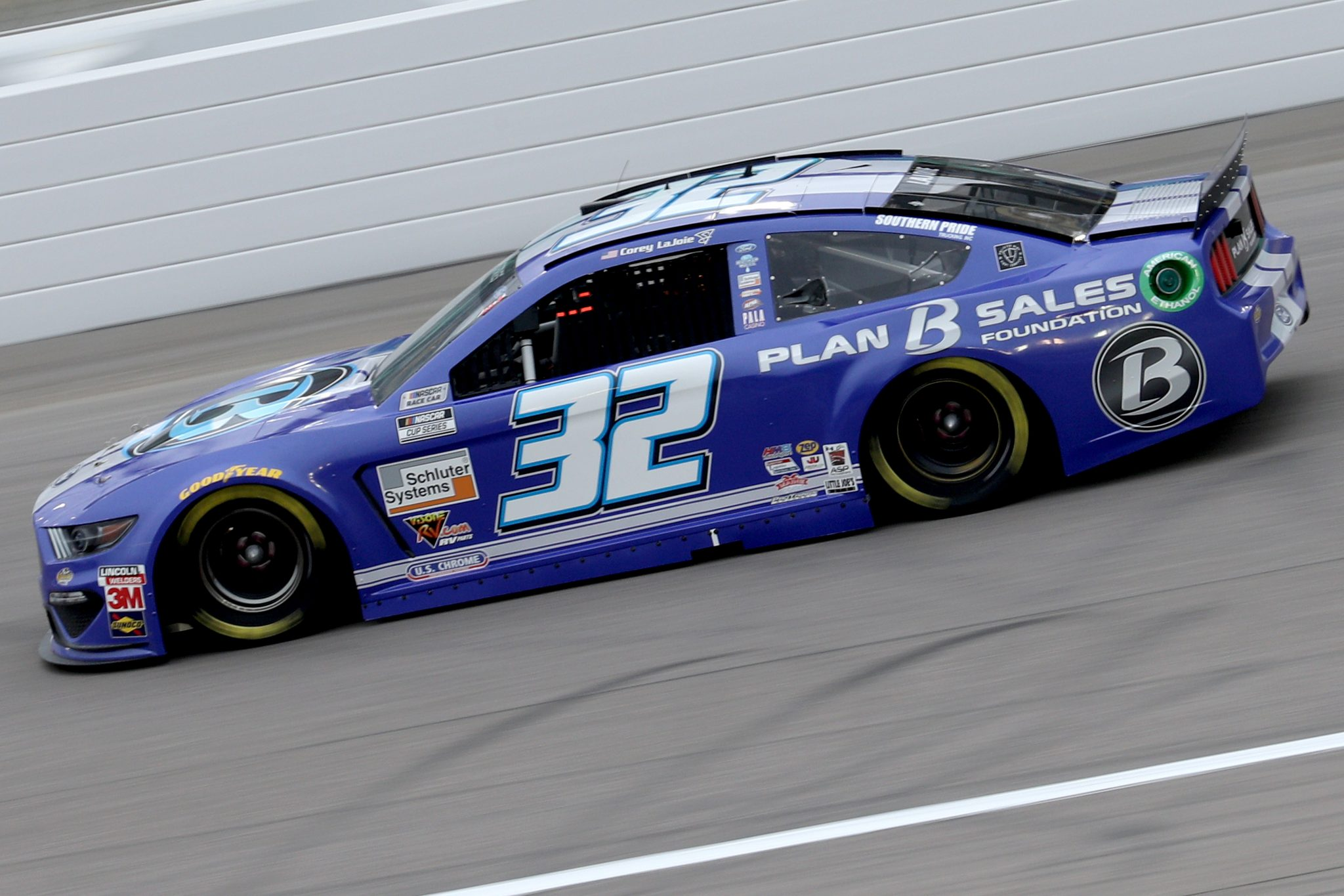 KANSAS CITY, KANSAS - OCTOBER 18: Corey LaJoie, driver of the #32 Plan B Sales Foundation Ford, drives during the NASCAR Cup Series Hollywood Casino 400 at Kansas Speedway on October 18, 2020 in Kansas City, Kansas. (Photo by Chris Graythen/Getty Images) | Getty Images