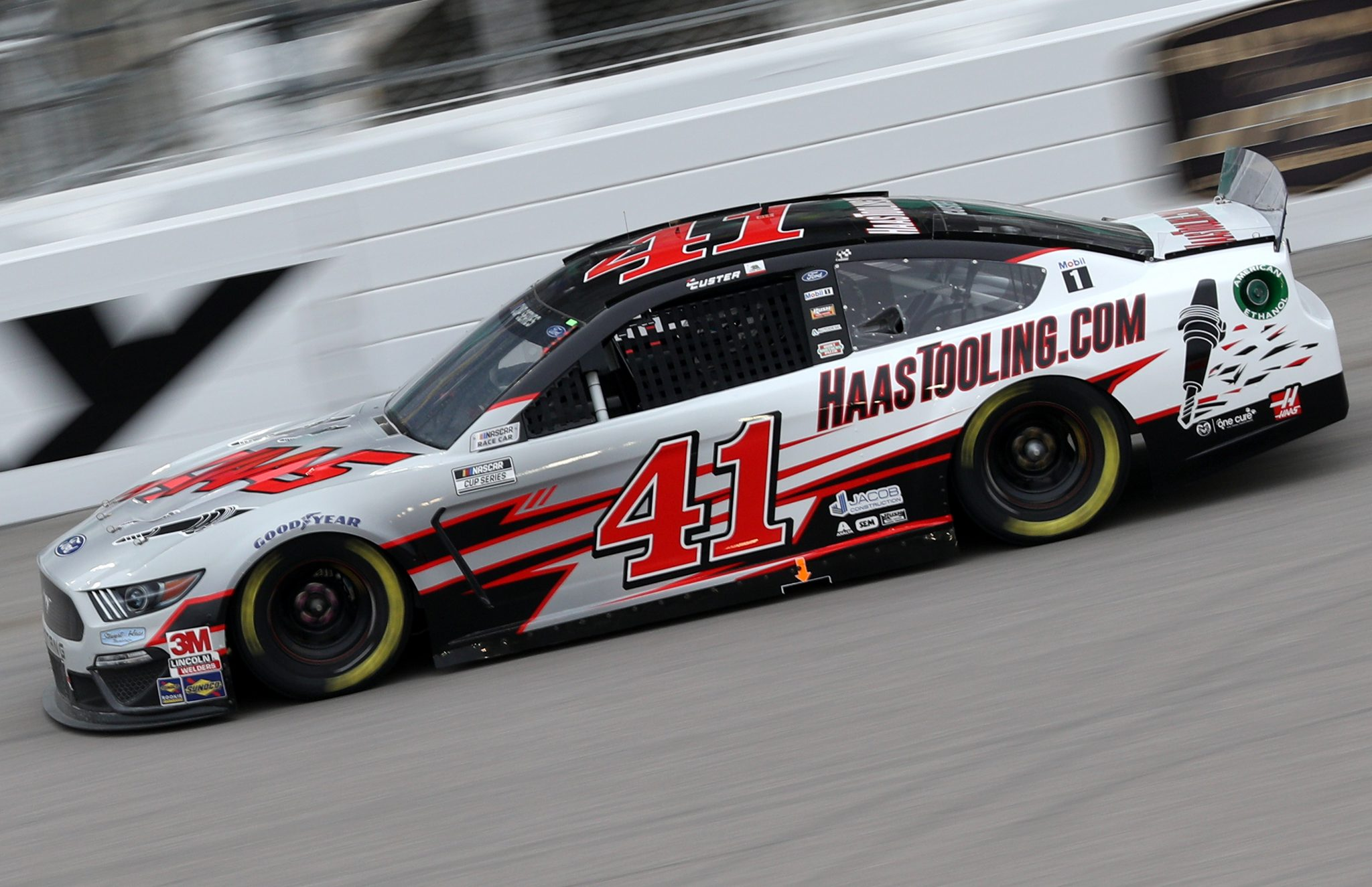 KANSAS CITY, KANSAS - OCTOBER 18: Cole Custer, driver of the #41 HaasTooling.com Ford, drives during the NASCAR Cup Series Hollywood Casino 400 at Kansas Speedway on October 18, 2020 in Kansas City, Kansas. (Photo by Chris Graythen/Getty Images) | Getty Images