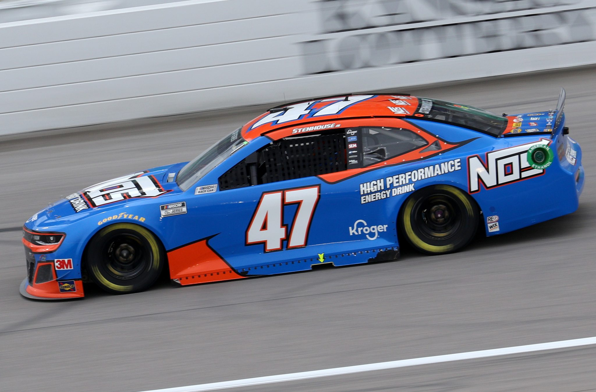 KANSAS CITY, KANSAS - OCTOBER 18: Ricky Stenhouse Jr., driver of the #47 NOS Energy Drink Chevrolet, drives during the NASCAR Cup Series Hollywood Casino 400 at Kansas Speedway on October 18, 2020 in Kansas City, Kansas. (Photo by Chris Graythen/Getty Images) | Getty Images