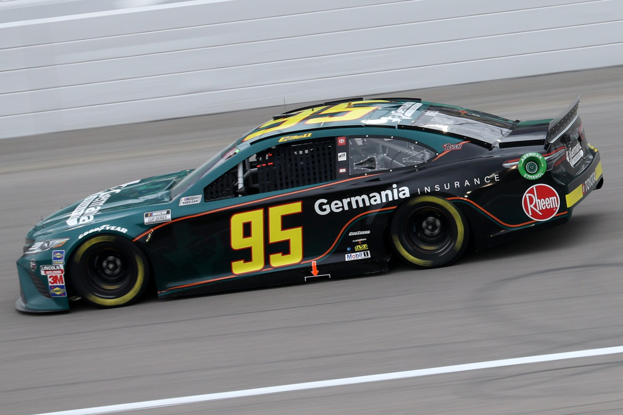 KANSAS CITY, KANSAS - OCTOBER 18: Christopher Bell, driver of the #95 Germania Insurance Toyota, drives during the NASCAR Cup Series Hollywood Casino 400 at Kansas Speedway on October 18, 2020 in Kansas City, Kansas. (Photo by Chris Graythen/Getty Images) | Getty Images