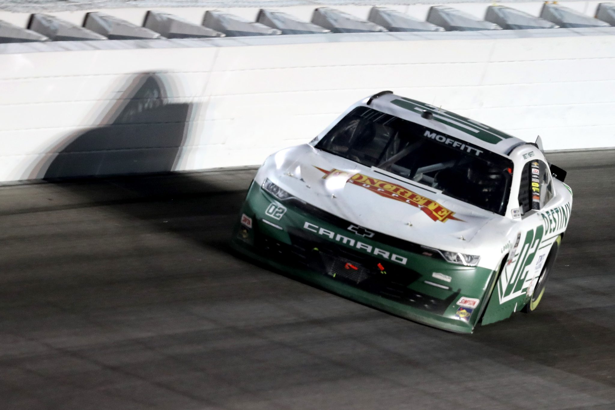 KANSAS CITY, KANSAS - OCTOBER 17: Brett Moffitt, driver of the #02 Destiny Homes/Concrete Supply Chevrolet, drives during the NASCAR Xfinity Series Kansas Lottery 300 at Kansas Speedway on October 17, 2020 in Kansas City, Kansas. (Photo by Jamie Squire/Getty Images) | Getty Images