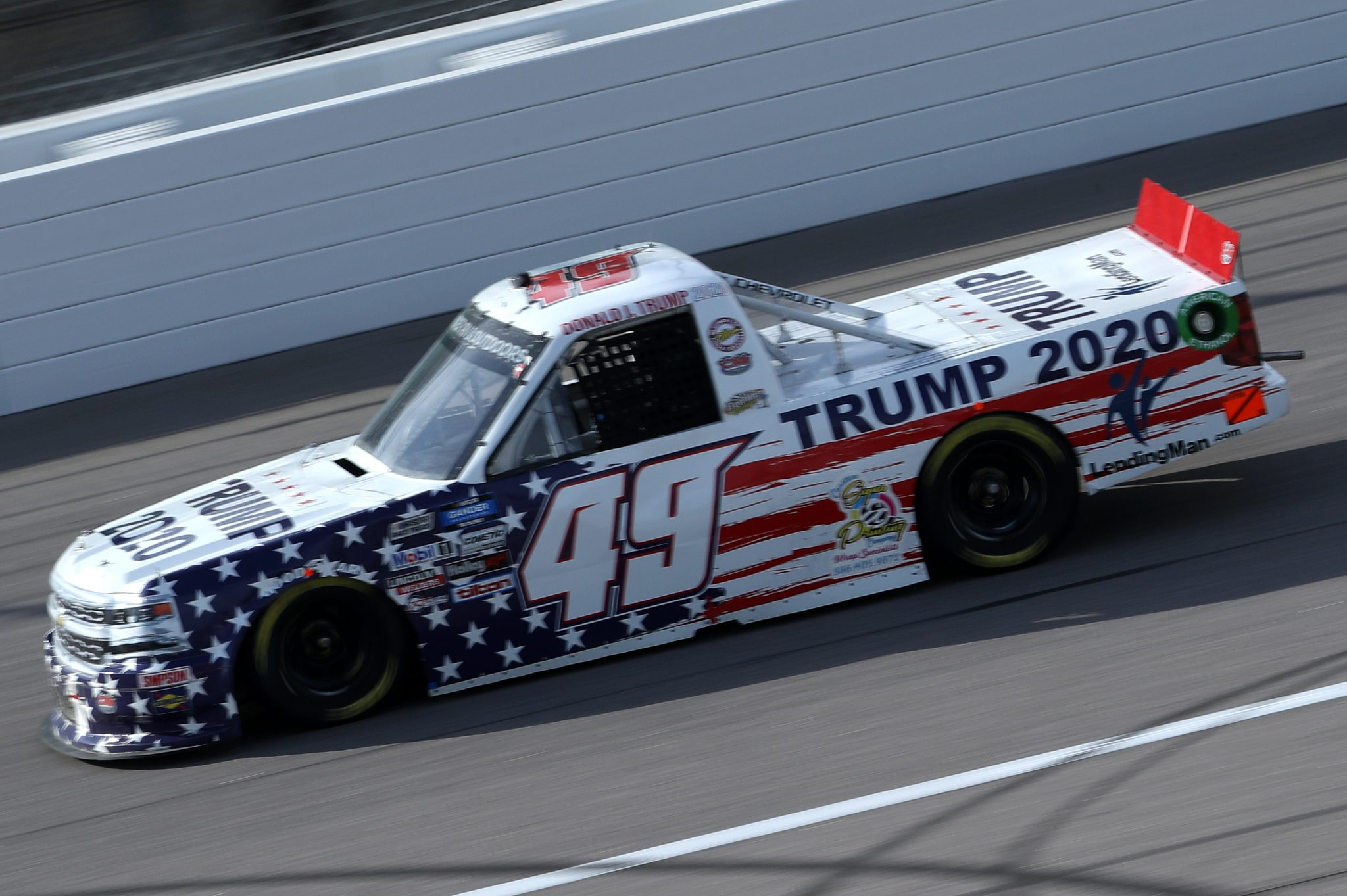 KANSAS CITY, KANSAS - OCTOBER 17: Tim Viens, driver of the #49 CMI Motorsports Chevrolet, drives during the NASCAR Gander RV & Outdoors Truck Series Clean Harbors 200at Kansas Speedway on October 17, 2020 in Kansas City, Kansas. (Photo by Chris Graythen/Getty Images) | Getty Images