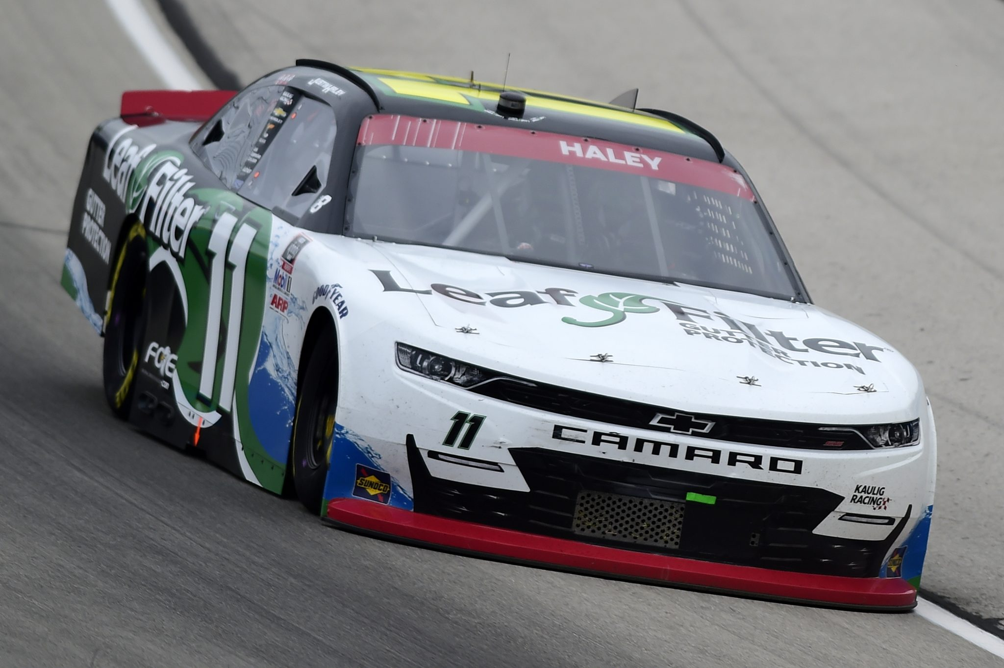 FORT WORTH, TEXAS - OCTOBER 24: Justin Haley, driver of the #11 LeafFilter Gutter Protection Chevrolet, drives during the NASCAR Xfinity Series O'Reilly Auto Parts 300 at Texas Motor Speedway on October 24, 2020 in Fort Worth, Texas. (Photo by Jared C. Tilton/Getty Images) | Getty Images