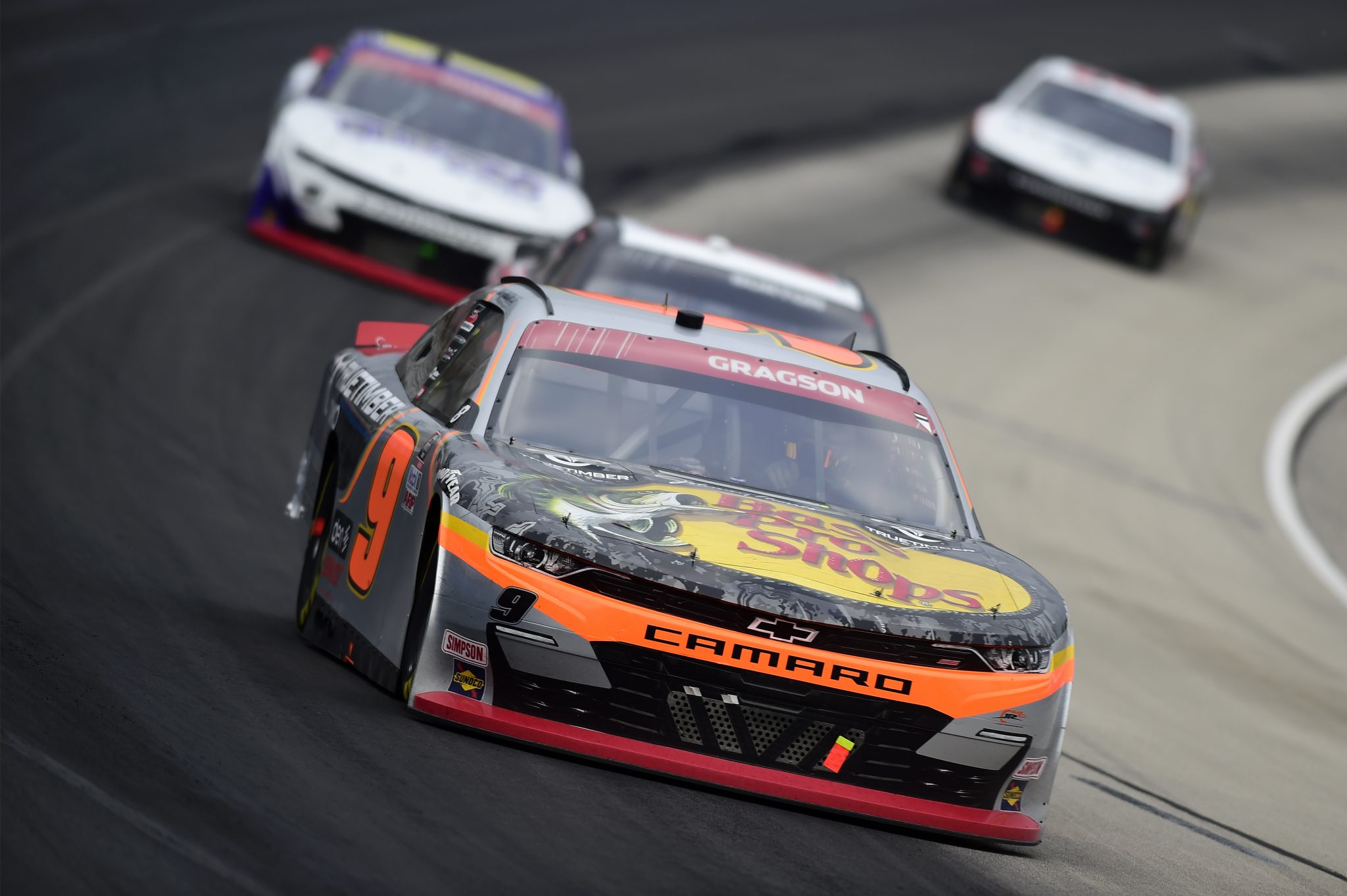 FORT WORTH, TEXAS - OCTOBER 24: Noah Gragson, driver of the #9 Bass Pro Shops/TrueTimber Camo Chevrolet, drives during the NASCAR Xfinity Series O'Reilly Auto Parts 300 at Texas Motor Speedway on October 24, 2020 in Fort Worth, Texas. (Photo by Jared C. Tilton/Getty Images) | Getty Images