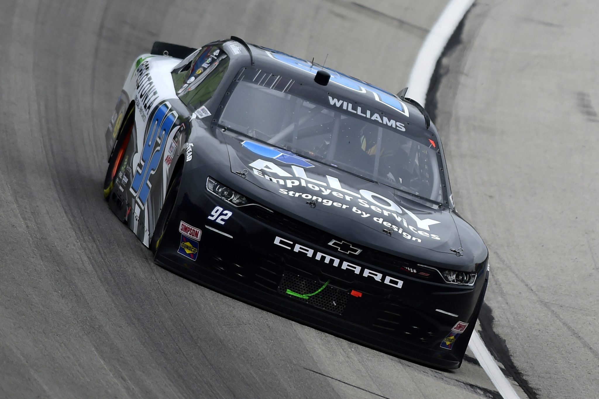 FORT WORTH, TEXAS - OCTOBER 24: Josh Williams, driver of the #92 Chevrolet, drives during the NASCAR Xfinity Series O'Reilly Auto Parts 300 at Texas Motor Speedway on October 24, 2020 in Fort Worth, Texas. (Photo by Jared C. Tilton/Getty Images) | Getty Images