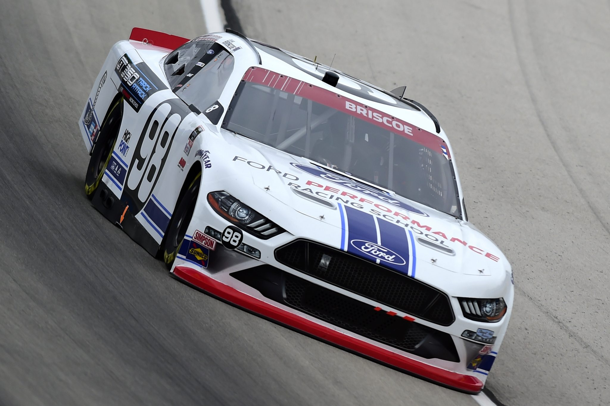 FORT WORTH, TEXAS - OCTOBER 24: Chase Briscoe, driver of the #98 Ford Performance Racing School Ford, drives during the NASCAR Xfinity Series O'Reilly Auto Parts 300 at Texas Motor Speedway on October 24, 2020 in Fort Worth, Texas. (Photo by Jared C. Tilton/Getty Images) | Getty Images