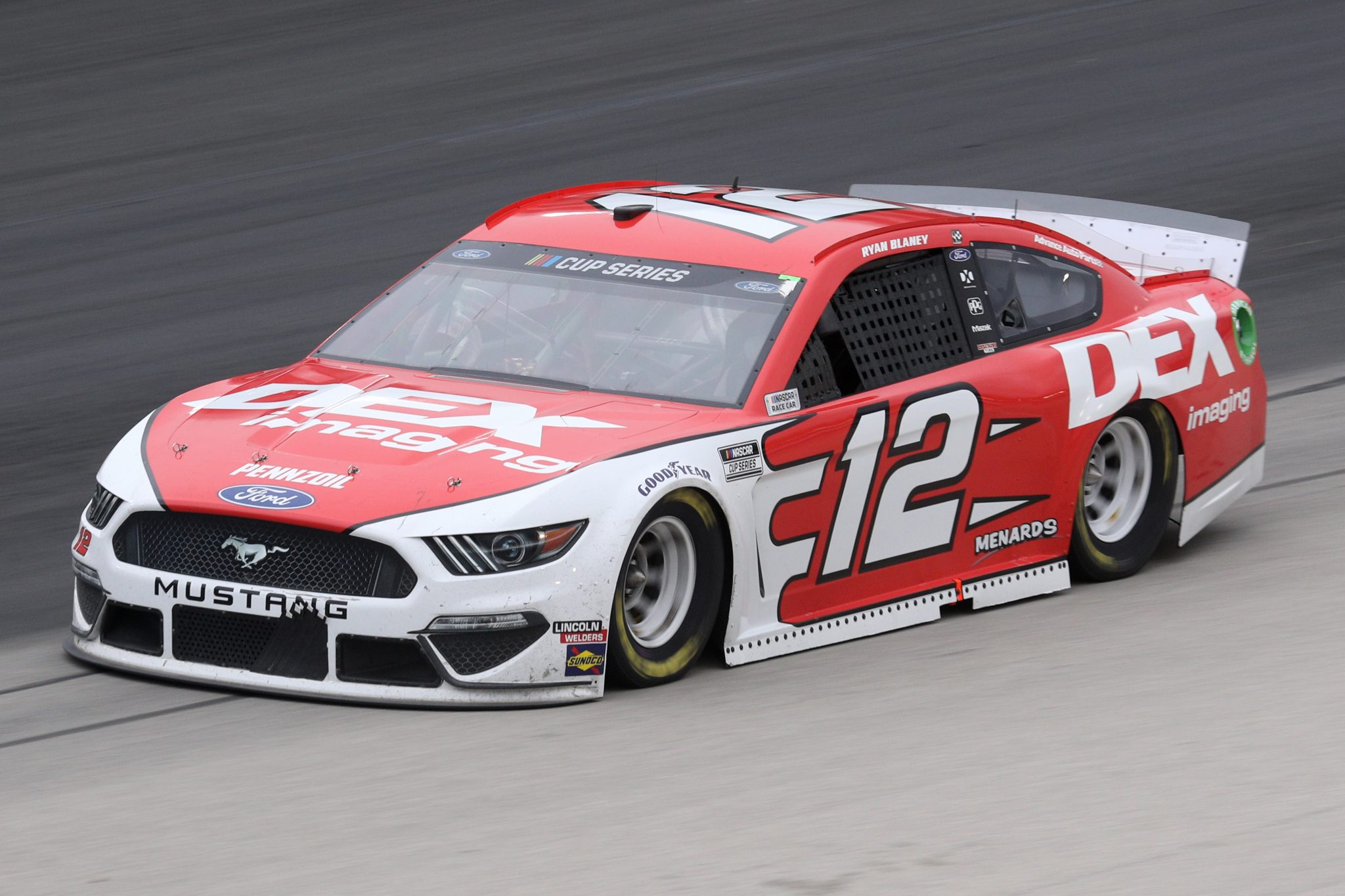 FORT WORTH, TEXAS - OCTOBER 28: Ryan Blaney, driver of the #12 DEX Imaging Ford, drives during the NASCAR Cup Series Autotrader EchoPark Automotive 500 at Texas Motor Speedway on October 28, 2020 in Fort Worth, Texas. (Photo by Chris Graythen/Getty Images) | Getty Images