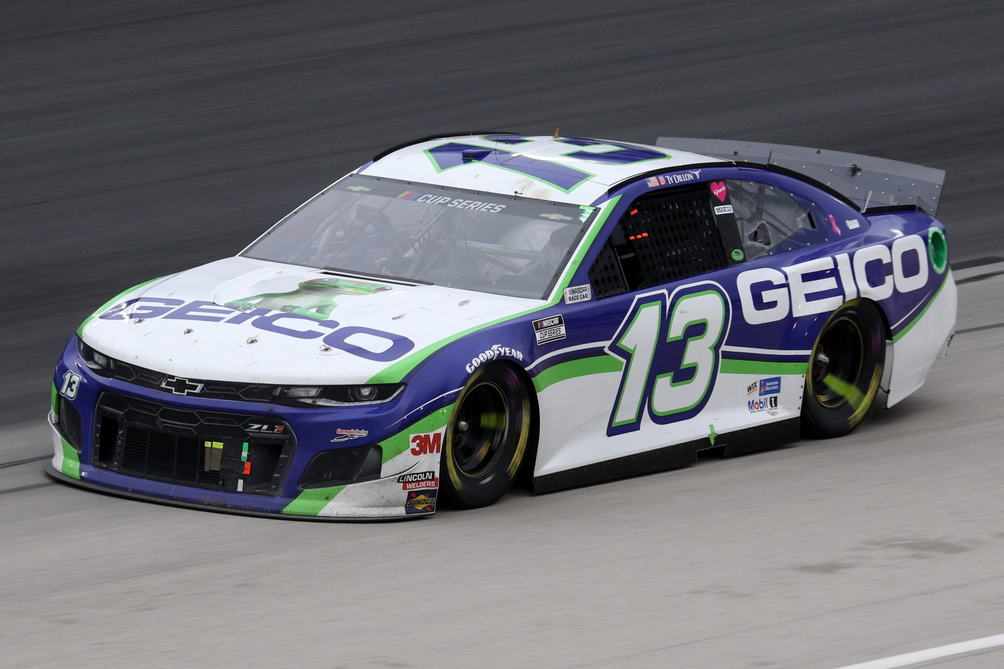 FORT WORTH, TEXAS - OCTOBER 28: Ty Dillon, driver of the #13 GEICO Chevrolet, drives during the NASCAR Cup Series Autotrader EchoPark Automotive 500 at Texas Motor Speedway on October 28, 2020 in Fort Worth, Texas. (Photo by Chris Graythen/Getty Images)   Getty Images