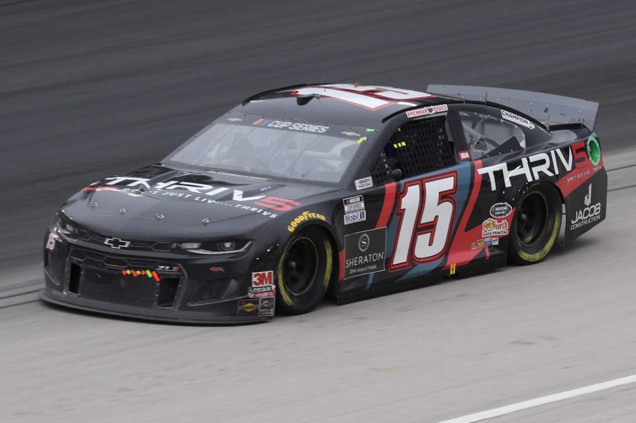 FORT WORTH, TEXAS - OCTOBER 28: Brennan Poole, driver of the #15 THRIV5 Chevrolet, drives during the NASCAR Cup Series Autotrader EchoPark Automotive 500 at Texas Motor Speedway on October 28, 2020 in Fort Worth, Texas. (Photo by Chris Graythen/Getty Images)   Getty Images
