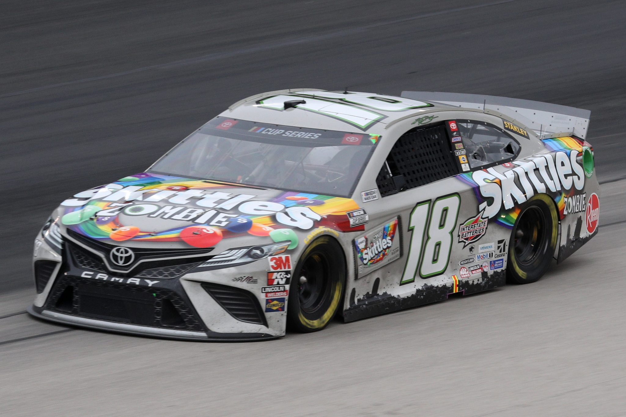 FORT WORTH, TEXAS - OCTOBER 28: Kyle Busch, driver of the #18 Skittles Zombie Toyota, drives during the NASCAR Cup Series Autotrader EchoPark Automotive 500 at Texas Motor Speedway on October 28, 2020 in Fort Worth, Texas. (Photo by Chris Graythen/Getty Images) | Getty Images