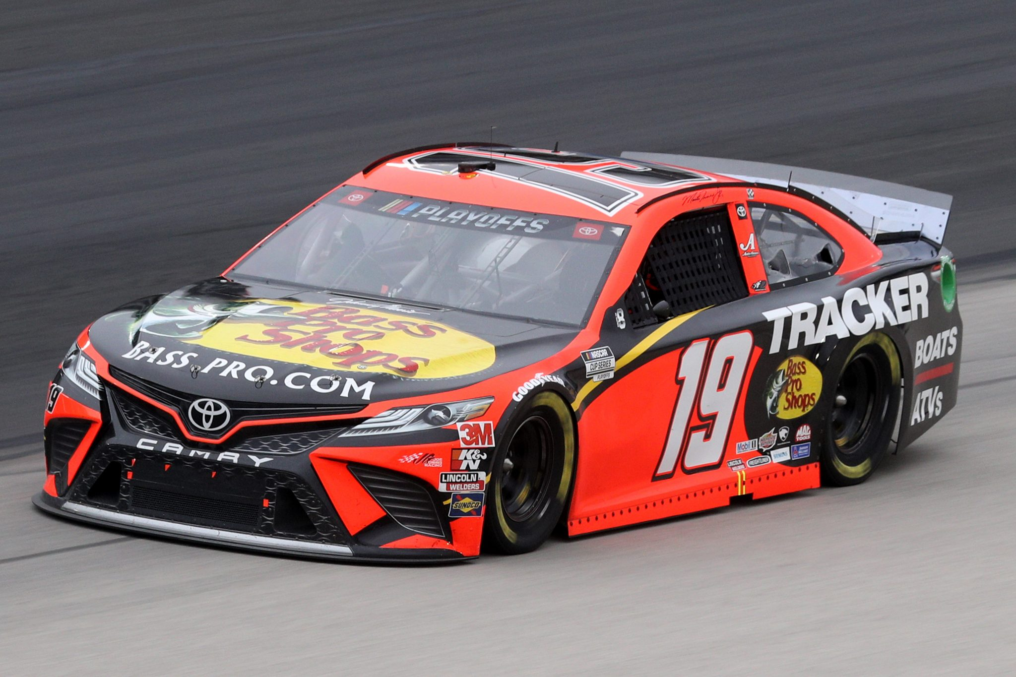 FORT WORTH, TEXAS - OCTOBER 28: Martin Truex Jr., driver of the #19 Bass Pro Shops Toyota, drives during the NASCAR Cup Series Autotrader EchoPark Automotive 500 at Texas Motor Speedway on October 28, 2020 in Fort Worth, Texas. (Photo by Chris Graythen/Getty Images)   Getty Images