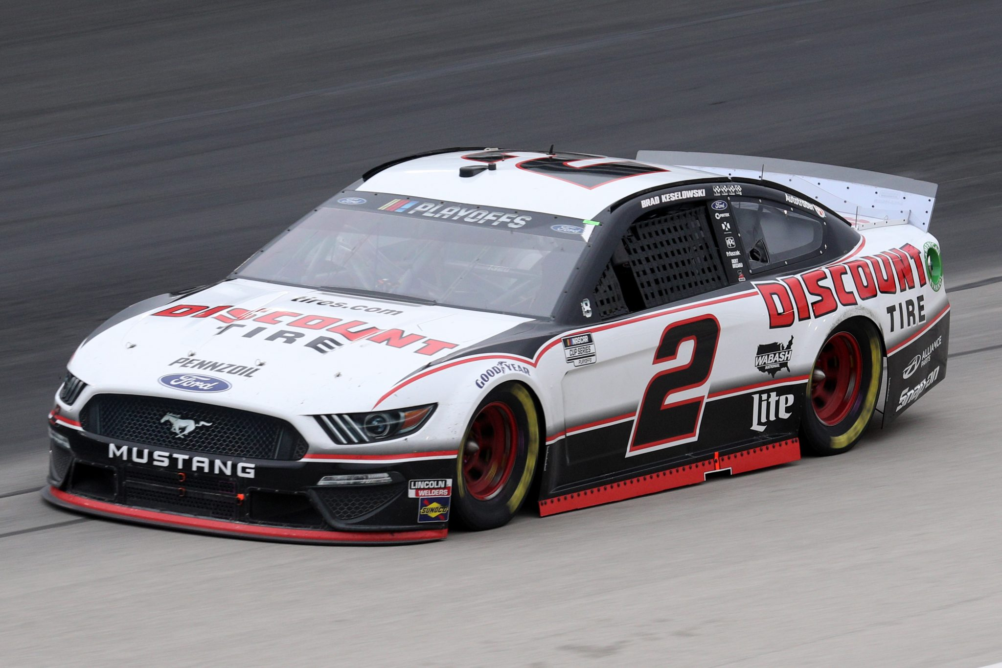 FORT WORTH, TEXAS - OCTOBER 28: Brad Keselowski, driver of the #2 Discount Tire Ford, drives during the NASCAR Cup Series Autotrader EchoPark Automotive 500 at Texas Motor Speedway on October 28, 2020 in Fort Worth, Texas. (Photo by Chris Graythen/Getty Images) | Getty Images