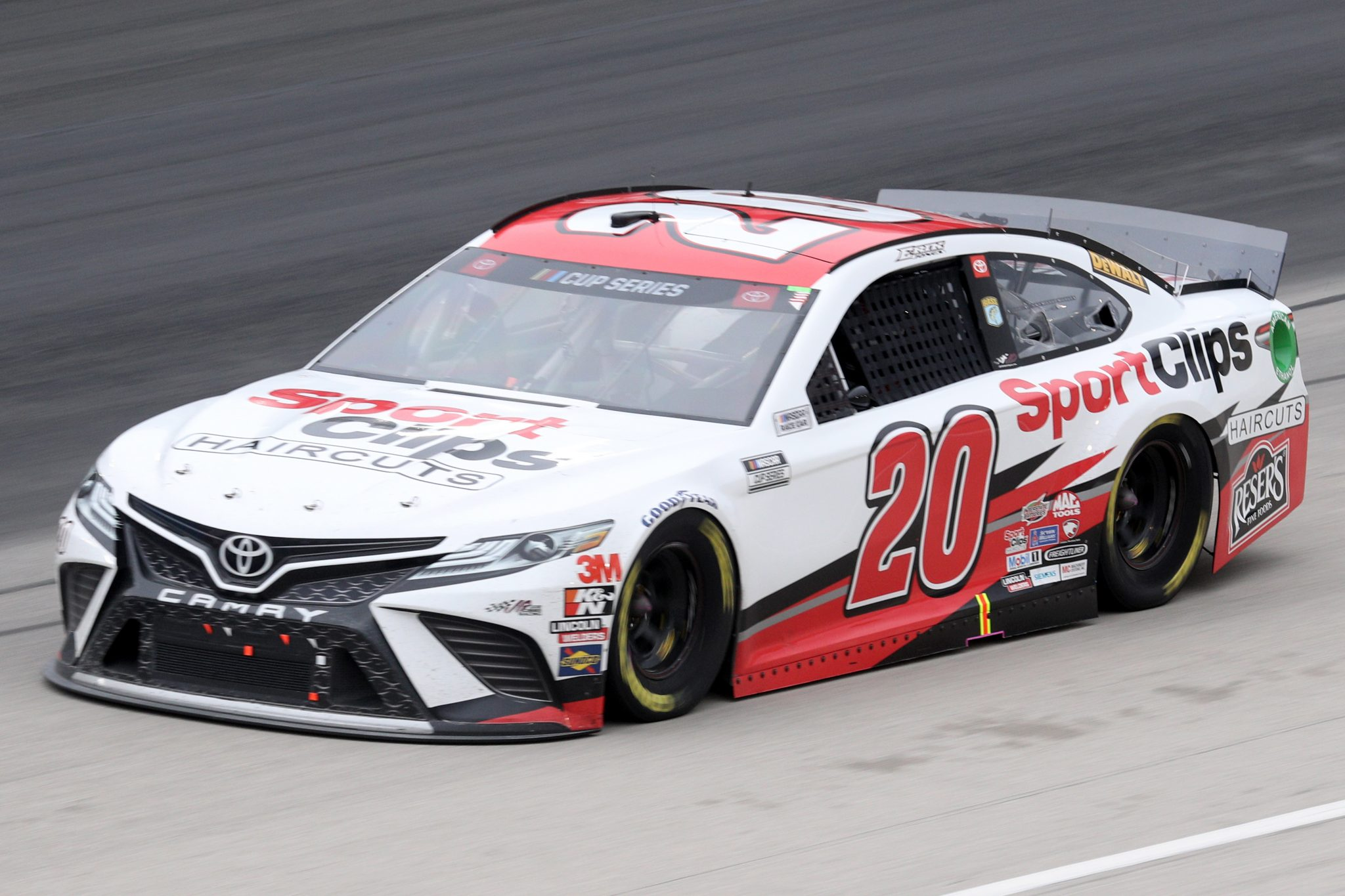 FORT WORTH, TEXAS - OCTOBER 28: Erik Jones, driver of the #20 Sport Clips Toyota, drives during the NASCAR Cup Series Autotrader EchoPark Automotive 500 at Texas Motor Speedway on October 28, 2020 in Fort Worth, Texas. (Photo by Chris Graythen/Getty Images)   Getty Images