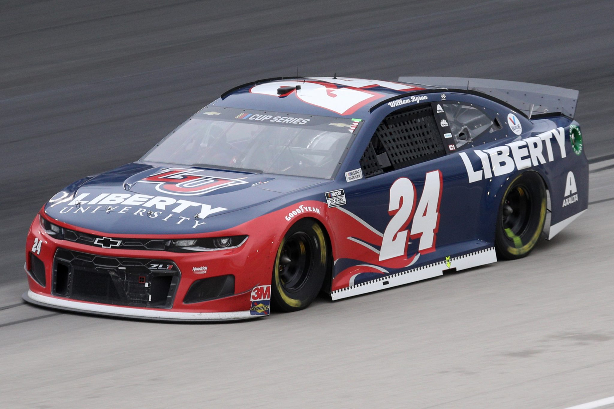 FORT WORTH, TEXAS - OCTOBER 28: William Byron, driver of the #24 Liberty University Chevrolet, drives during the NASCAR Cup Series Autotrader EchoPark Automotive 500 at Texas Motor Speedway on October 28, 2020 in Fort Worth, Texas. (Photo by Chris Graythen/Getty Images) | Getty Images