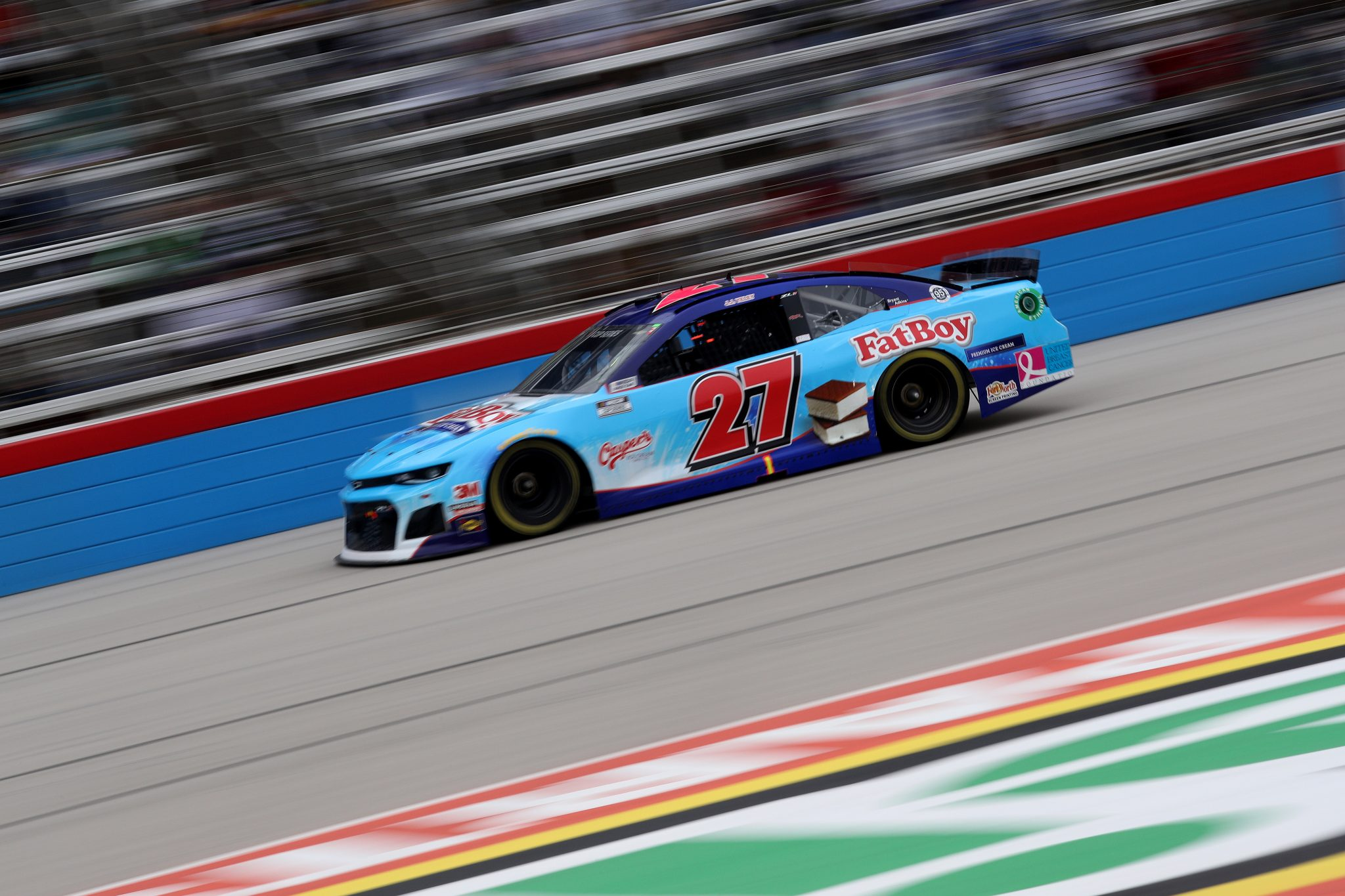 FORT WORTH, TEXAS - OCTOBER 25: JJ Yeley, driver of the #27 Fat Boy Ice Cream Chevrolet, drives during the NASCAR Cup Series Autotrader EchoPark Automotive 500 at Texas Motor Speedway on October 25, 2020 in Fort Worth, Texas. (Photo by Chris Graythen/Getty Images) | Getty Images