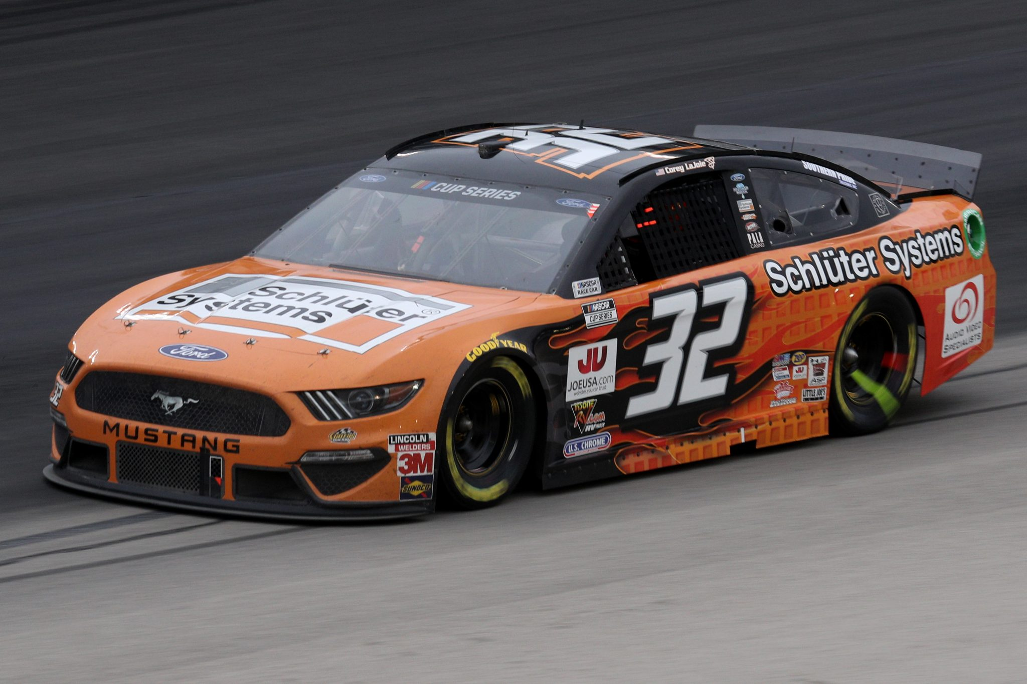 FORT WORTH, TEXAS - OCTOBER 28: Corey LaJoie, driver of the #32 Schluter Systems Ford, drives during the NASCAR Cup Series Autotrader EchoPark Automotive 500 at Texas Motor Speedway on October 28, 2020 in Fort Worth, Texas. (Photo by Chris Graythen/Getty Images) | Getty Images