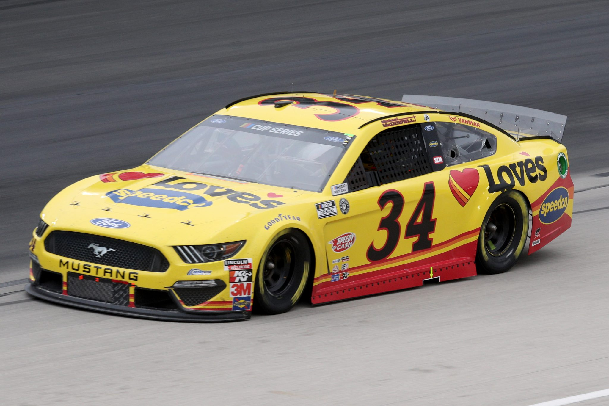 FORT WORTH, TEXAS - OCTOBER 28: Michael McDowell, driver of the #34 Love's Travel Stops Ford, drives during the NASCAR Cup Series Autotrader EchoPark Automotive 500 at Texas Motor Speedway on October 28, 2020 in Fort Worth, Texas. (Photo by Chris Graythen/Getty Images)   Getty Images