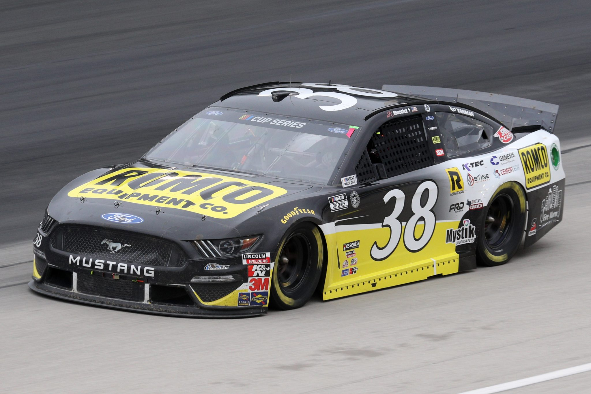 FORT WORTH, TEXAS - OCTOBER 28: John H. Nemechek, driver of the #38 ROMCO Ford, drives during the NASCAR Cup Series Autotrader EchoPark Automotive 500 at Texas Motor Speedway on October 28, 2020 in Fort Worth, Texas. (Photo by Chris Graythen/Getty Images)   Getty Images