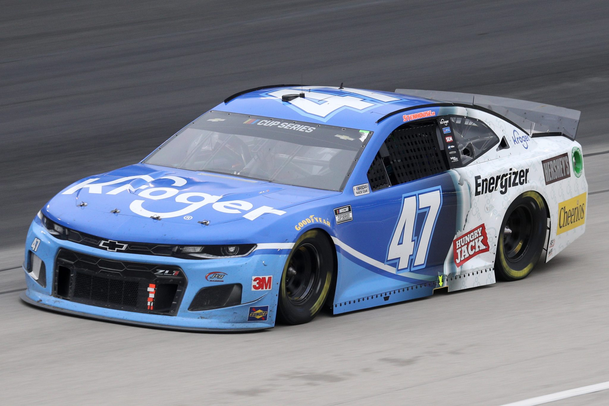 FORT WORTH, TEXAS - OCTOBER 28: Ricky Stenhouse Jr., driver of the #47 Kroger Chevrolet, drives during the NASCAR Cup Series Autotrader EchoPark Automotive 500 at Texas Motor Speedway on October 28, 2020 in Fort Worth, Texas. (Photo by Chris Graythen/Getty Images)   Getty Images
