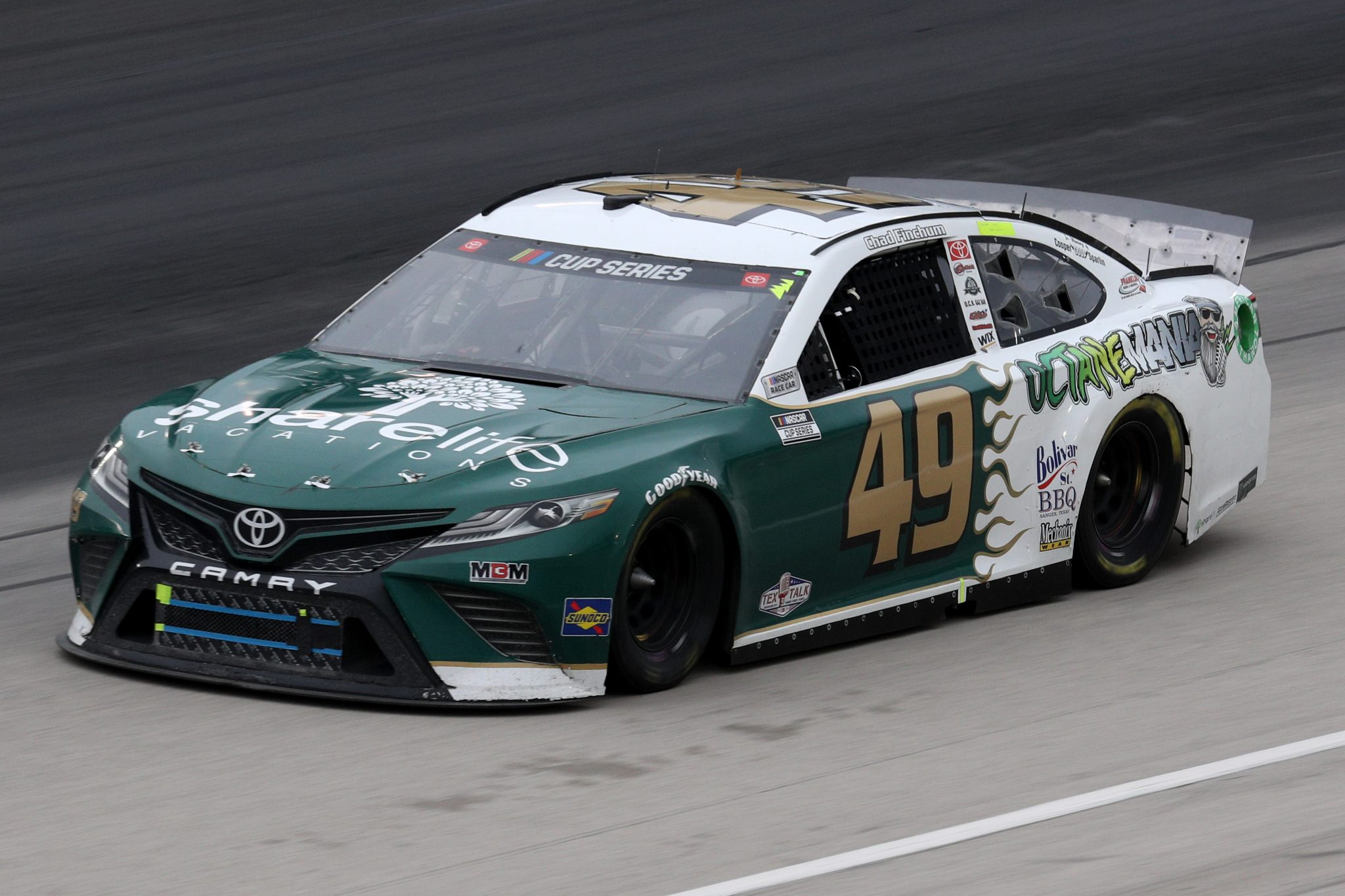 FORT WORTH, TEXAS - OCTOBER 28: Chad Finchum, driver of the #49 LasVegas.net Toyota, drives during the NASCAR Cup Series Autotrader EchoPark Automotive 500 at Texas Motor Speedway on October 28, 2020 in Fort Worth, Texas. (Photo by Chris Graythen/Getty Images) | Getty Images