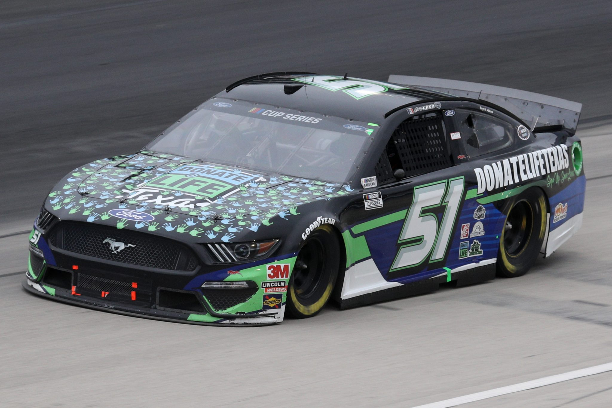 FORT WORTH, TEXAS - OCTOBER 28: Joey Gase, driver of the #51 Donate Life Texas Ford, drives during the NASCAR Cup Series Autotrader EchoPark Automotive 500 at Texas Motor Speedway on October 28, 2020 in Fort Worth, Texas. (Photo by Chris Graythen/Getty Images) | Getty Images