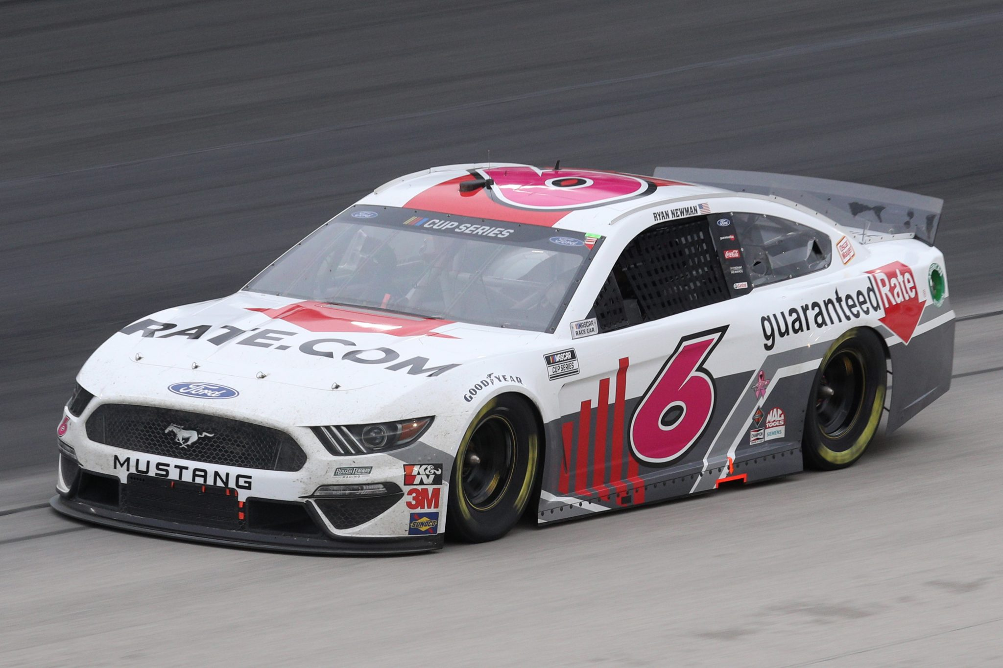 FORT WORTH, TEXAS - OCTOBER 28: Ryan Newman, driver of the #6 Guaranteed Rate Ford, drives during the NASCAR Cup Series Autotrader EchoPark Automotive 500 at Texas Motor Speedway on October 28, 2020 in Fort Worth, Texas. (Photo by Chris Graythen/Getty Images)   Getty Images