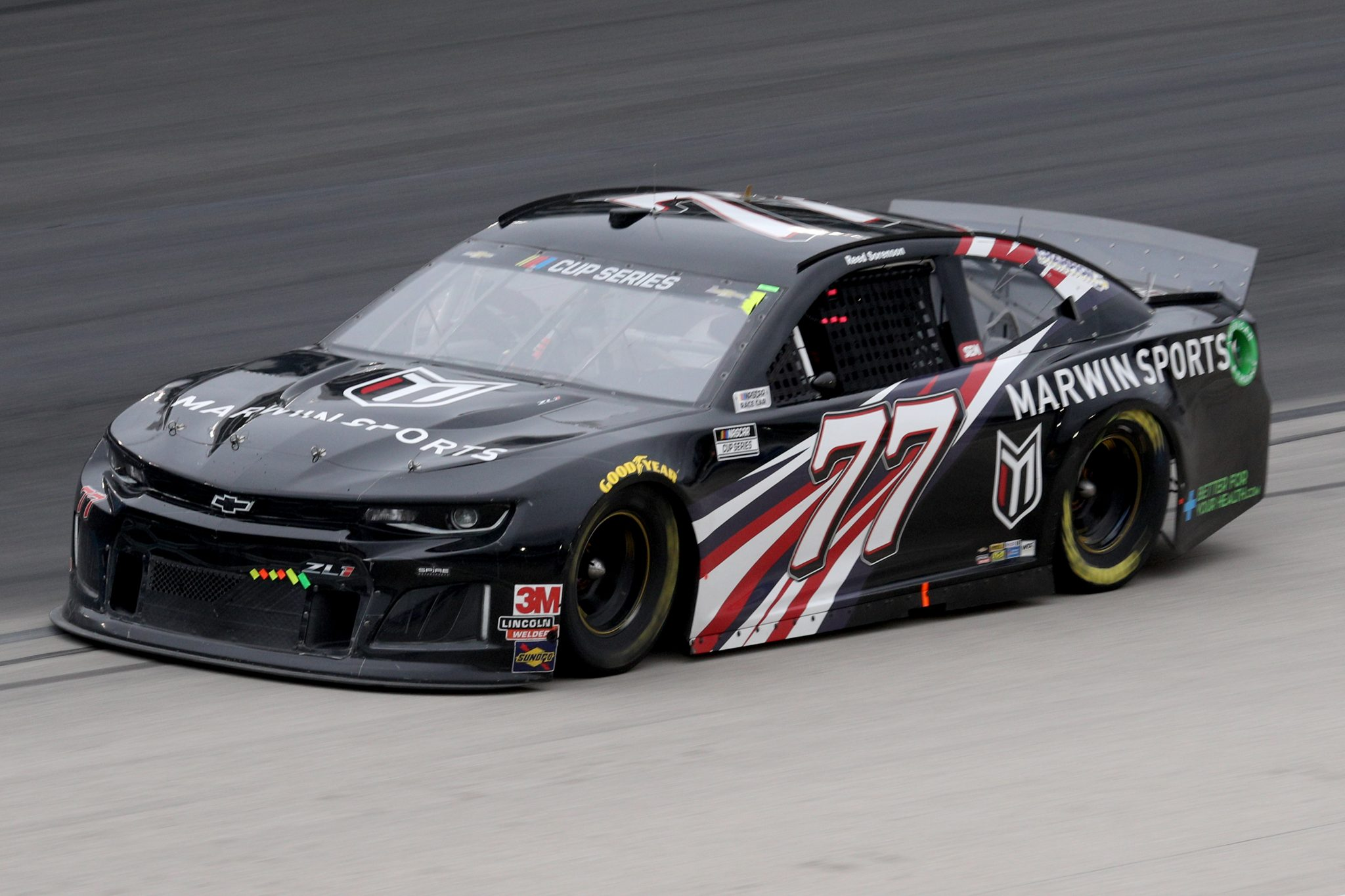 FORT WORTH, TEXAS - OCTOBER 28: Reed Sorenson, driver of the #77 Marwin Sports Chevrolet, drives during the NASCAR Cup Series Autotrader EchoPark Automotive 500 at Texas Motor Speedway on October 28, 2020 in Fort Worth, Texas. (Photo by Chris Graythen/Getty Images)   Getty Images
