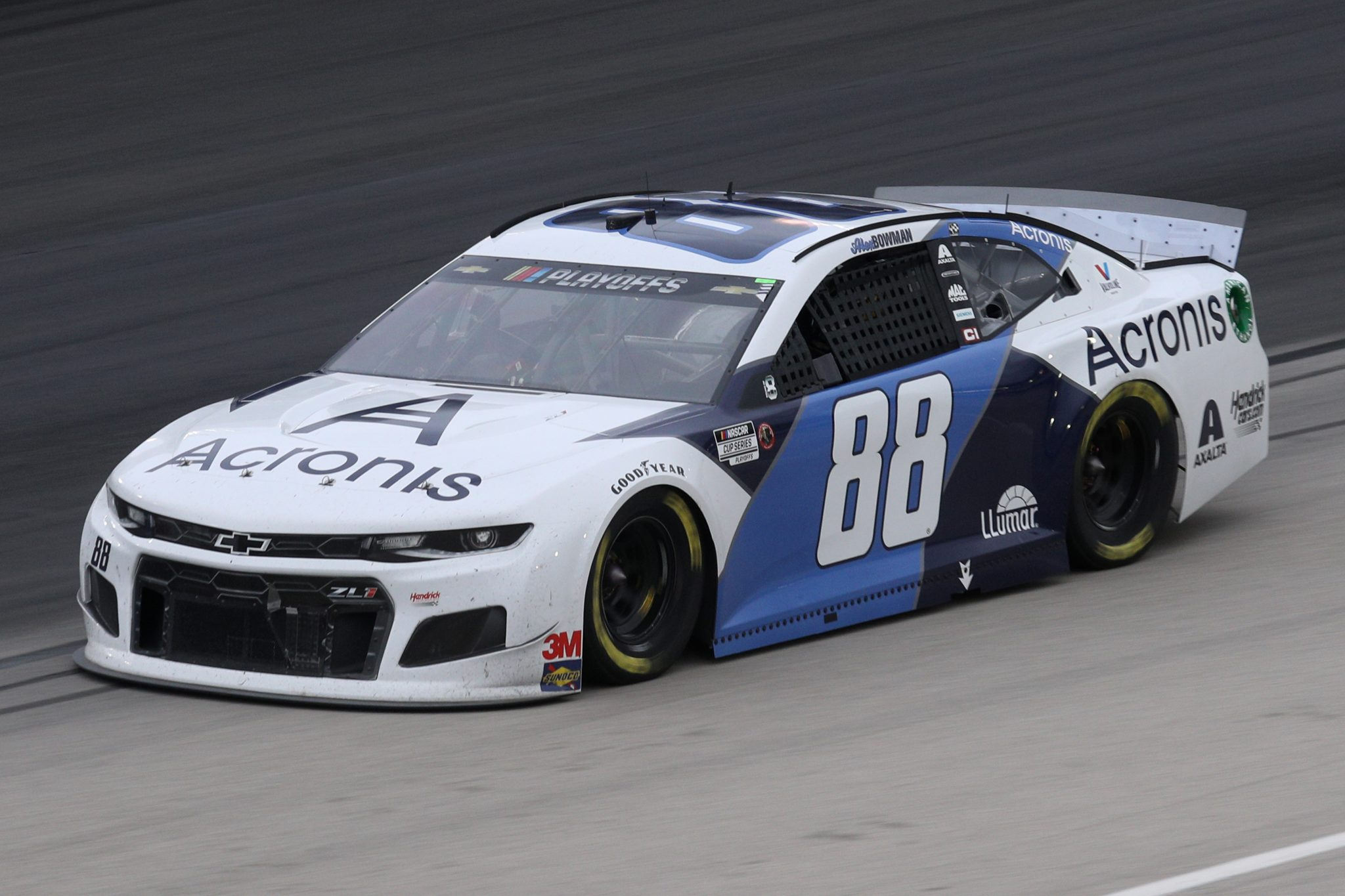 FORT WORTH, TEXAS - OCTOBER 28: Alex Bowman, driver of the #88 Acronis Chevrolet, drives during the NASCAR Cup Series Autotrader EchoPark Automotive 500 at Texas Motor Speedway on October 28, 2020 in Fort Worth, Texas. (Photo by Chris Graythen/Getty Images) | Getty Images