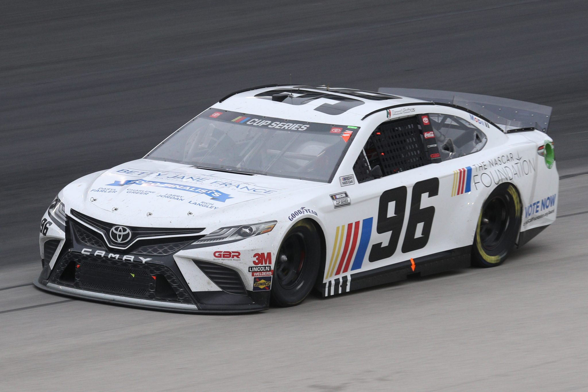 FORT WORTH, TEXAS - OCTOBER 28: Daniel Suarez, driver of the #96 The NASCAR Foundation Toyota, drives during the NASCAR Cup Series Autotrader EchoPark Automotive 500 at Texas Motor Speedway on October 28, 2020 in Fort Worth, Texas. (Photo by Chris Graythen/Getty Images) | Getty Images