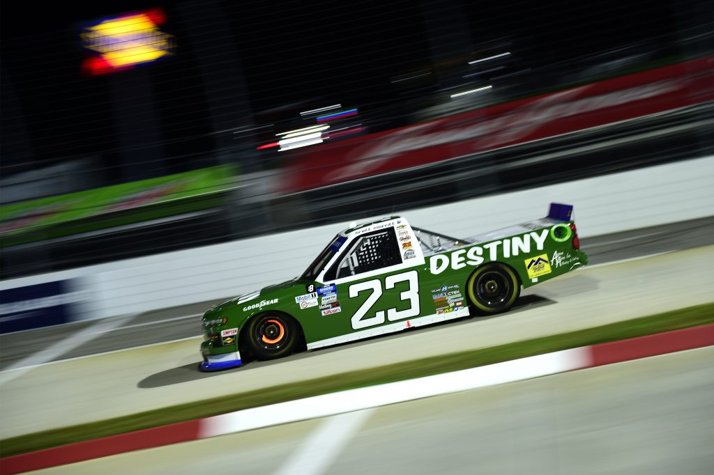 MARTINSVILLE, VIRGINIA - OCTOBER 30: Brett Moffitt, driver of the #23 Destiny Homes Chevrolet, drives during the NASCAR Gander RV & Outdoors Truck Series NASCAR Hall of Fame 200 at Martinsville Speedway on October 30, 2020 in Martinsville, Virginia. (Photo by Jared C. Tilton/Getty Images) | Getty Images