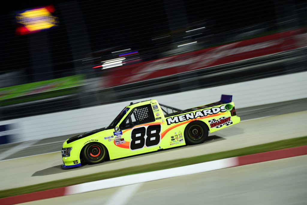 MARTINSVILLE, VIRGINIA - OCTOBER 30: Matt Crafton, driver of the #88 Denali Aire/Menards Ford, drives during the NASCAR Gander RV & Outdoors Truck Series NASCAR Hall of Fame 200 at Martinsville Speedway on October 30, 2020 in Martinsville, Virginia. (Photo by Jared C. Tilton/Getty Images) | Getty Images
