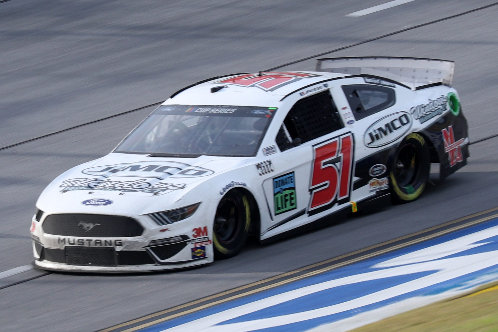 TALLADEGA, ALABAMA - OCTOBER 04: Joey Gase, driver of the #51 Ford, races during the NASCAR Cup Series YellaWood 500 at Talladega Superspeedway on October 04, 2020 in Talladega, Alabama. (Photo by Chris Graythen/Getty Images) | Getty Images