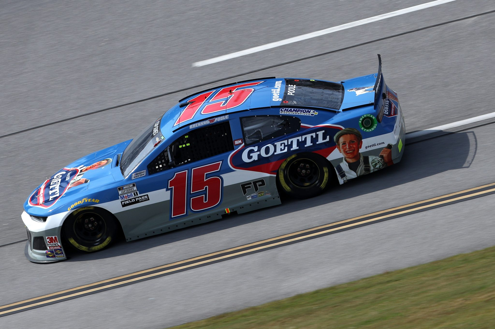 TALLADEGA, ALABAMA - OCTOBER 04: Brennan Poole, driver of the #15 Chevrolet, drives during the NASCAR Cup Series YellaWood 500 at Talladega Superspeedway on October 04, 2020 in Talladega, Alabama. (Photo by Chris Graythen/Getty Images) | Getty Images