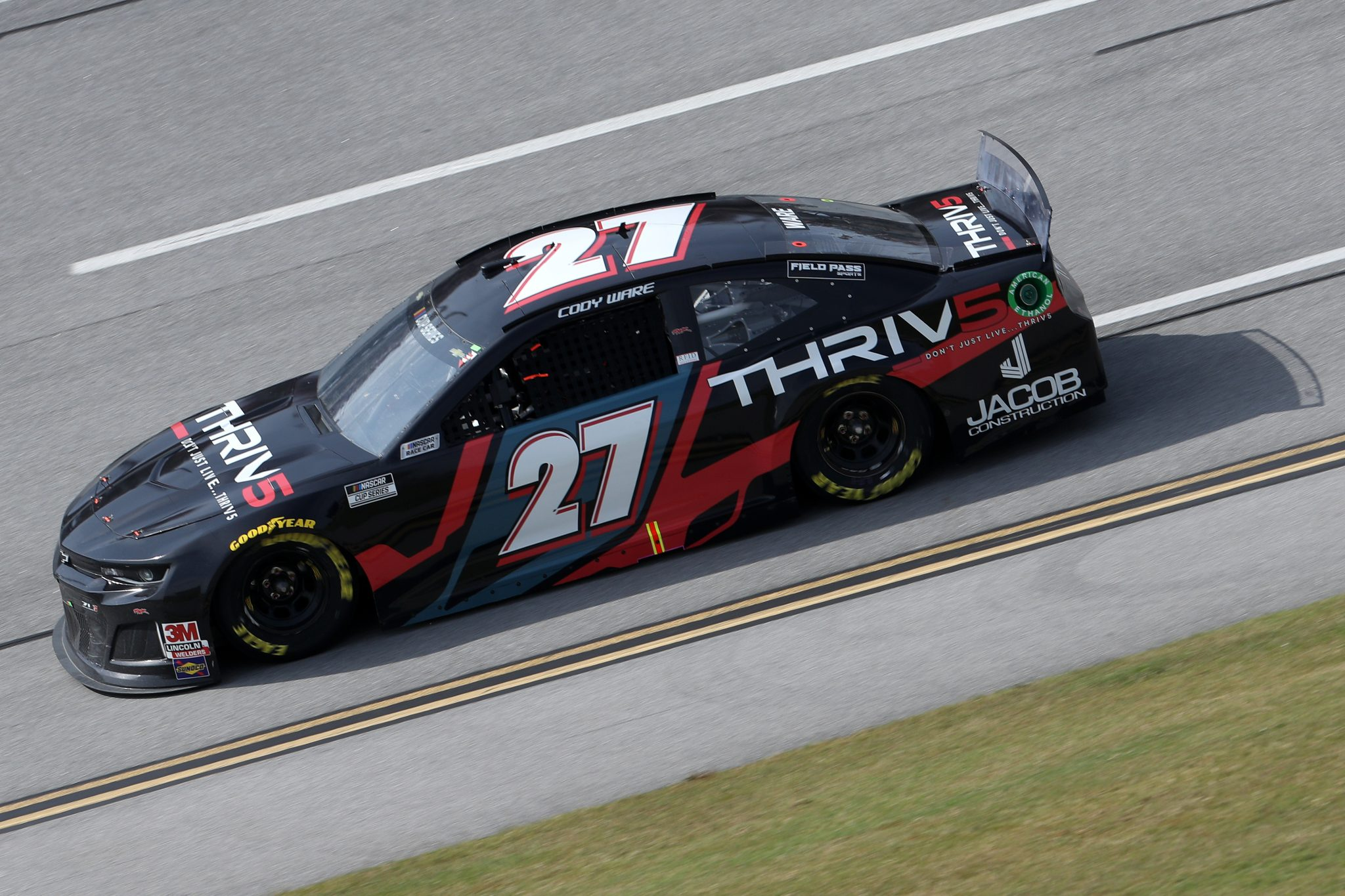 TALLADEGA, ALABAMA - OCTOBER 04: JJ Yeley, driver of the #27 Ford, drives during the NASCAR Cup Series YellaWood 500 at Talladega Superspeedway on October 04, 2020 in Talladega, Alabama. (Photo by Chris Graythen/Getty Images) | Getty Images