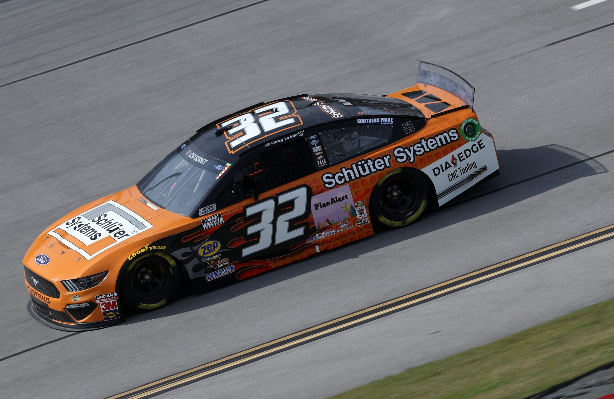 TALLADEGA, ALABAMA - OCTOBER 04: Corey LaJoie, driver of the #32 Schluter Systems Ford, drives during the NASCAR Cup Series YellaWood 500 at Talladega Superspeedway on October 04, 2020 in Talladega, Alabama. (Photo by Chris Graythen/Getty Images) | Getty Images