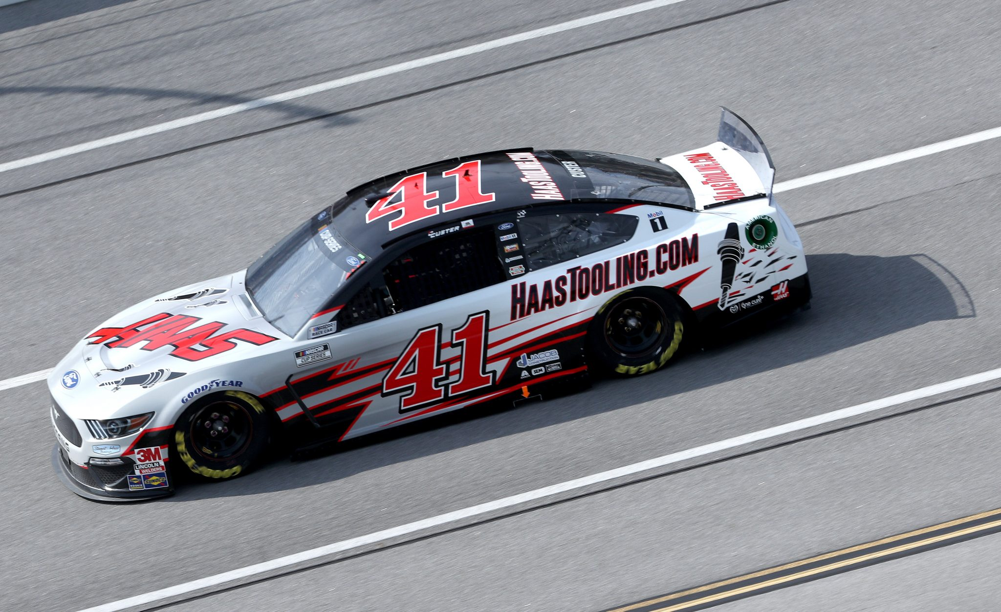 TALLADEGA, ALABAMA - OCTOBER 04: Cole Custer, driver of the #41 HaasTooling.com Ford, drives during the NASCAR Cup Series YellaWood 500 at Talladega Superspeedway on October 04, 2020 in Talladega, Alabama. (Photo by Chris Graythen/Getty Images) | Getty Images