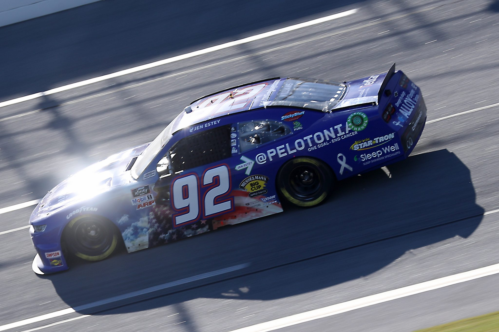 TALLADEGA, ALABAMA - OCTOBER 03: Josh Williams, driver of the #92 Alloy Employer Services/Coolray Heating & Air, drives during the NASCAR Xfinity Series Ag-Pro 300 at Talladega Superspeedway on October 03, 2020 in Talladega, Alabama. (Photo by Chris Graythen/Getty Images) | Getty Images