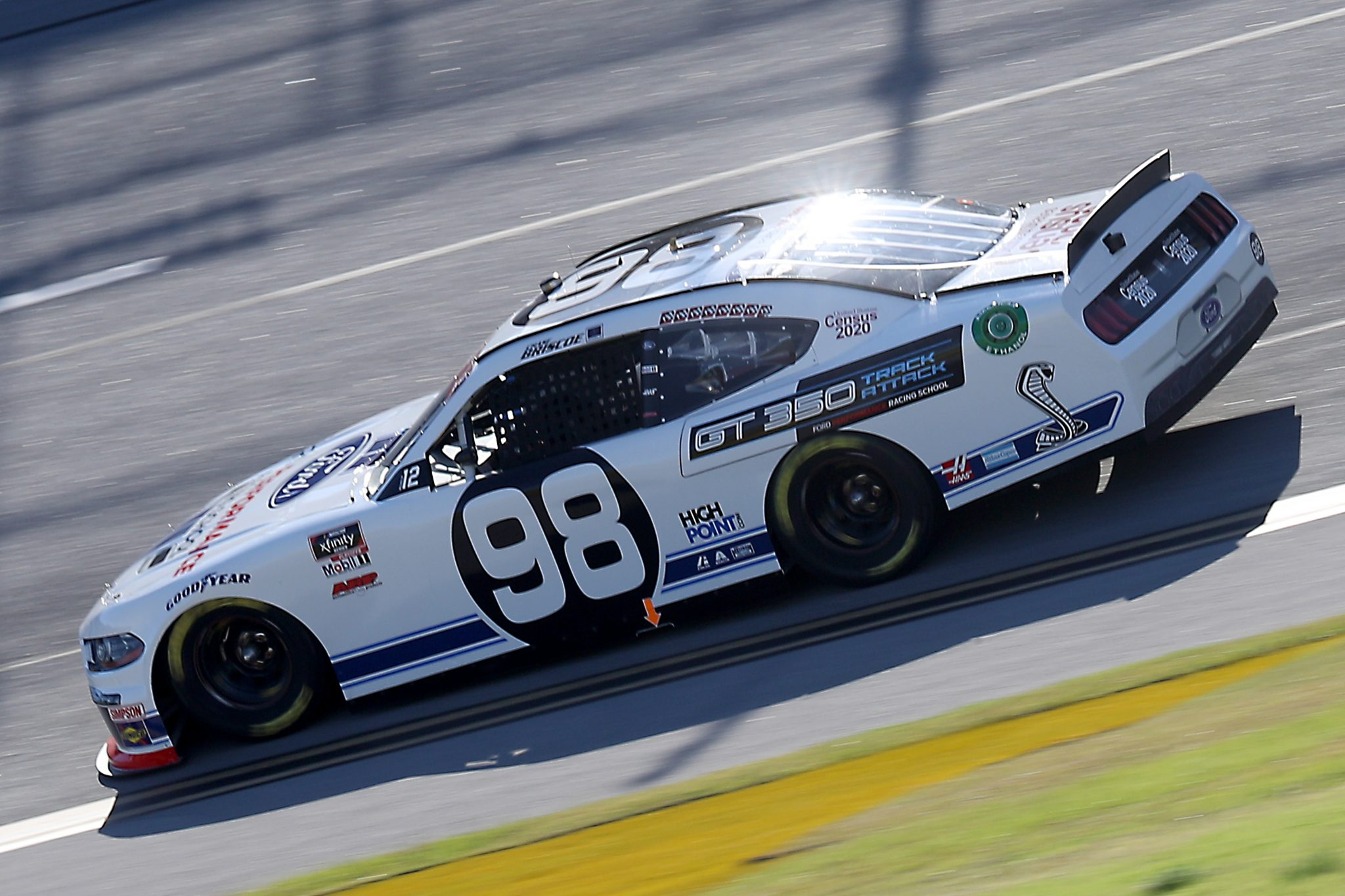 TALLADEGA, ALABAMA - OCTOBER 03: Chase Briscoe, driver of the #98 Ford Performance Racing School Ford, drives during the NASCAR Xfinity Series Ag-Pro 300 at Talladega Superspeedway on October 03, 2020 in Talladega, Alabama. (Photo by Chris Graythen/Getty Images) | Getty Images