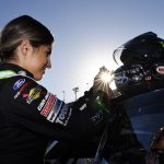 DAYTONA BEACH, FLORIDA - FEBRUARY 08: Hailie Deegan, driver of the #4 Monster Energy Ford, prepares for the ARCA Menards Series Lucas Oil 200 Driven by General Tire at Daytona International Speedway on February 08, 2020 in Daytona Beach, Florida. (Photo by Jared C. Tilton/Getty Images) | Getty Images