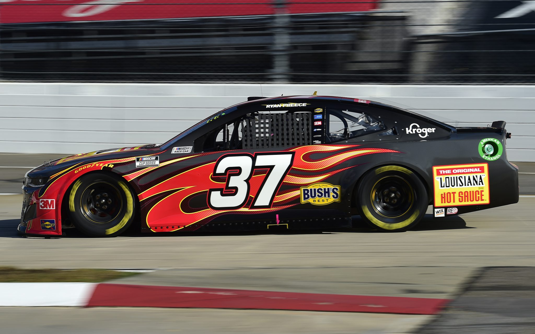 MARTINSVILLE, VIRGINIA - NOVEMBER 01: Ryan Preece, driver of the #37 Louisiana Hot Sauce Chevrolet, drives during the NASCAR Cup Series Xfinity 500 at Martinsville Speedway on November 01, 2020 in Martinsville, Virginia. (Photo by Jared C. Tilton/Getty Images) | Getty Images